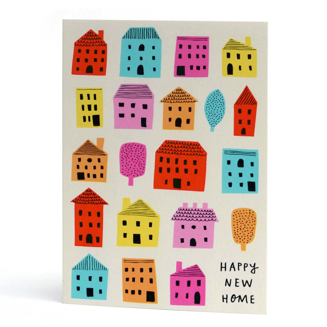 Happy New Home Neon Greeting Card