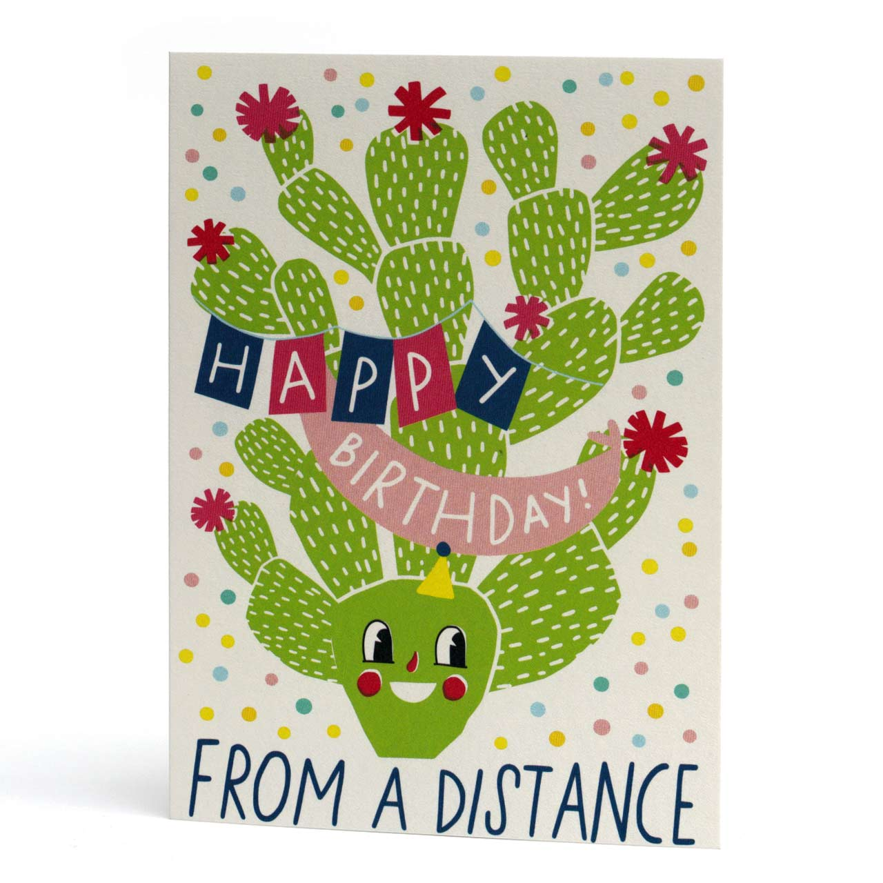 From A Distance Cactus Birthday Card