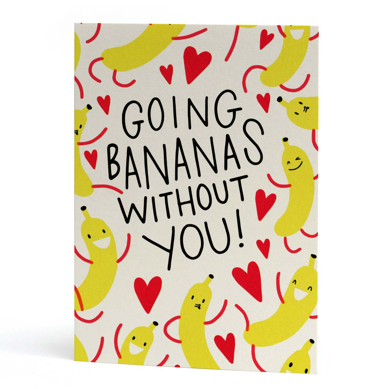 Going Bananas Without You Neon Greeting Card