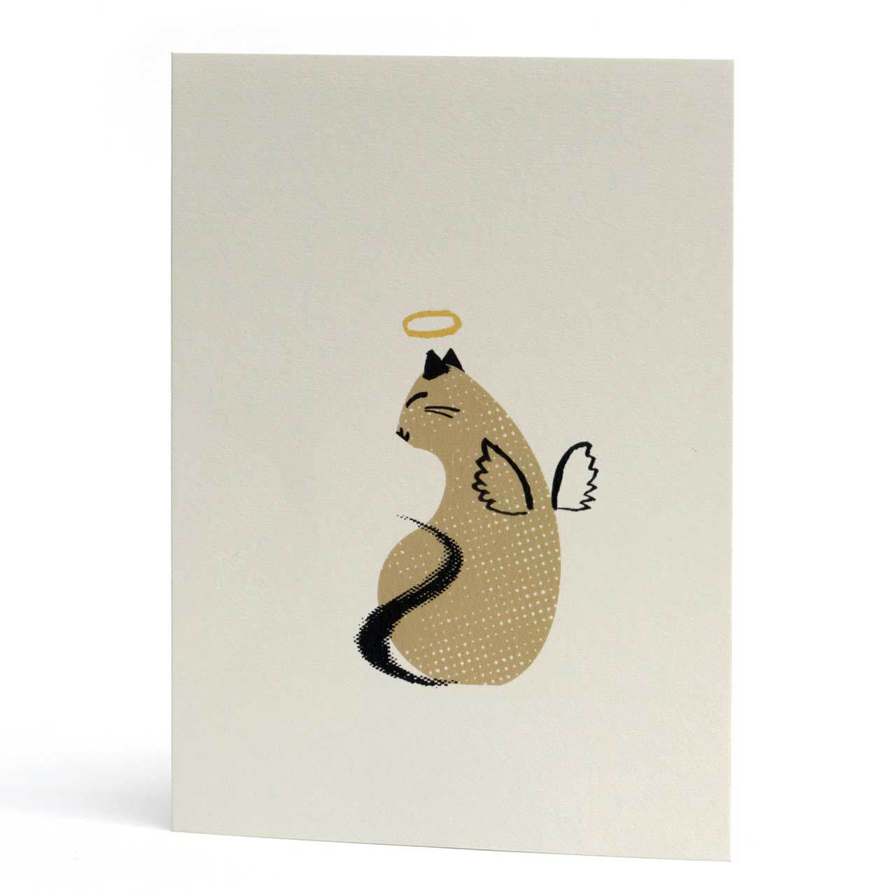 Halo Kitty Greeting Card