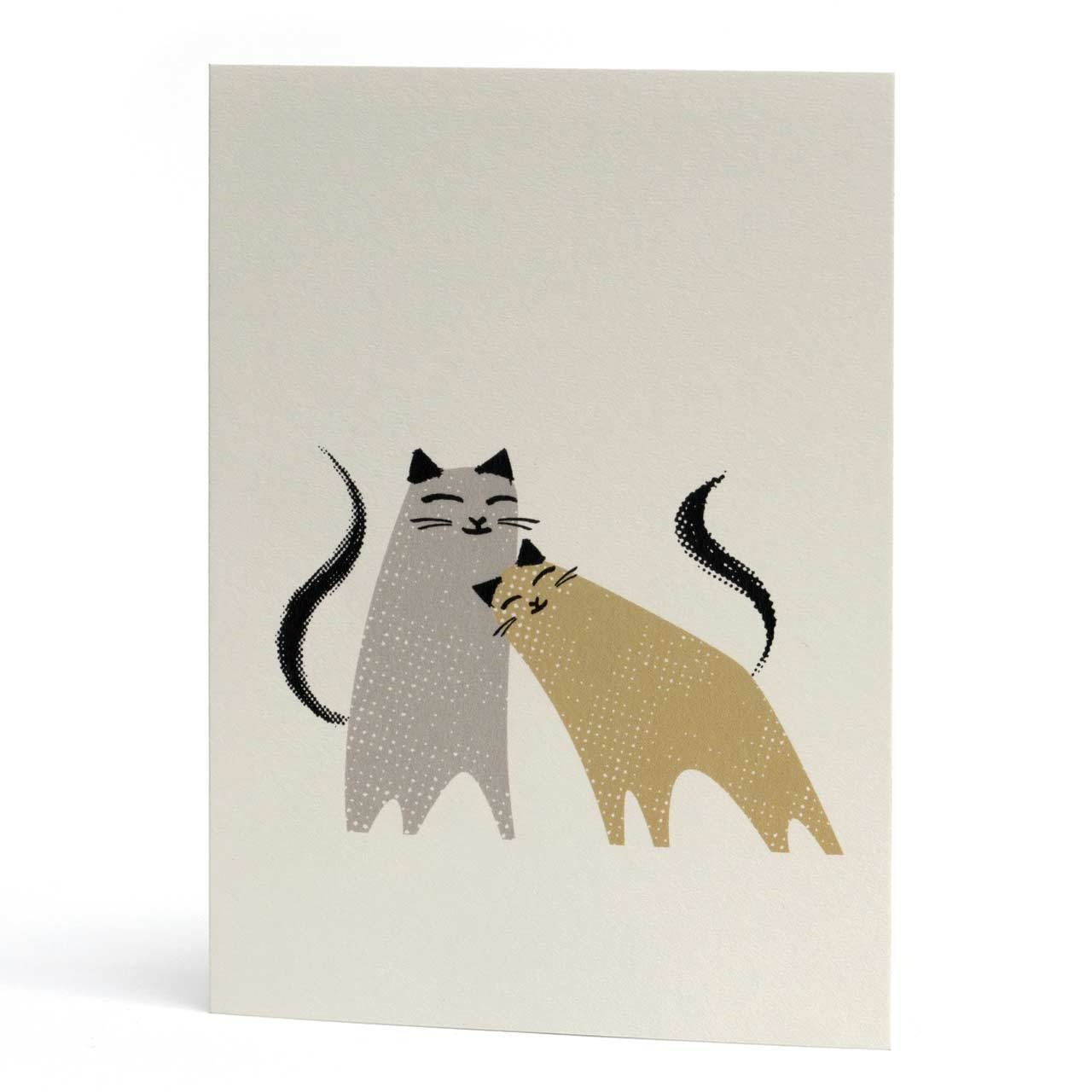 Smudge and Tigs Kitty Greeting Card