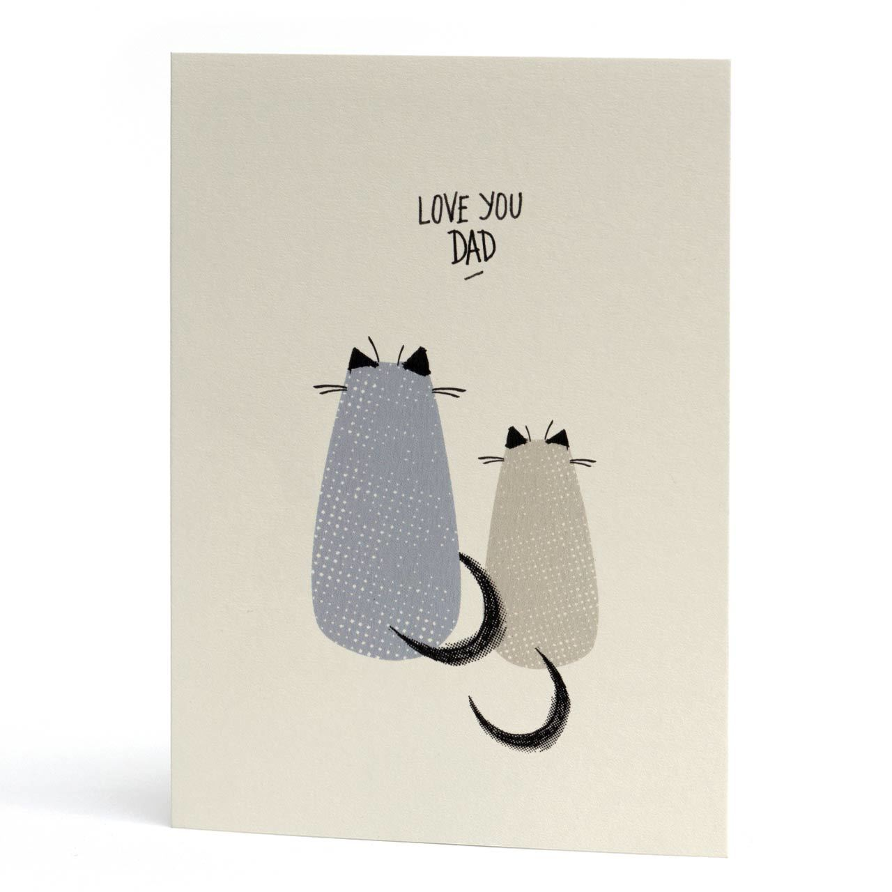 Love You Dad Cats Card