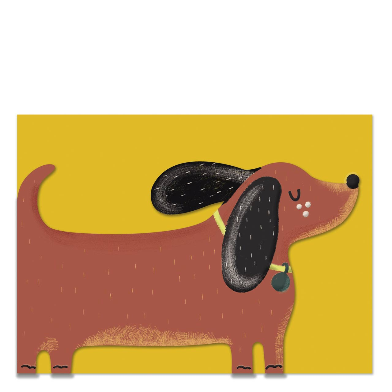 Dachshund Die Cut Greeting Card