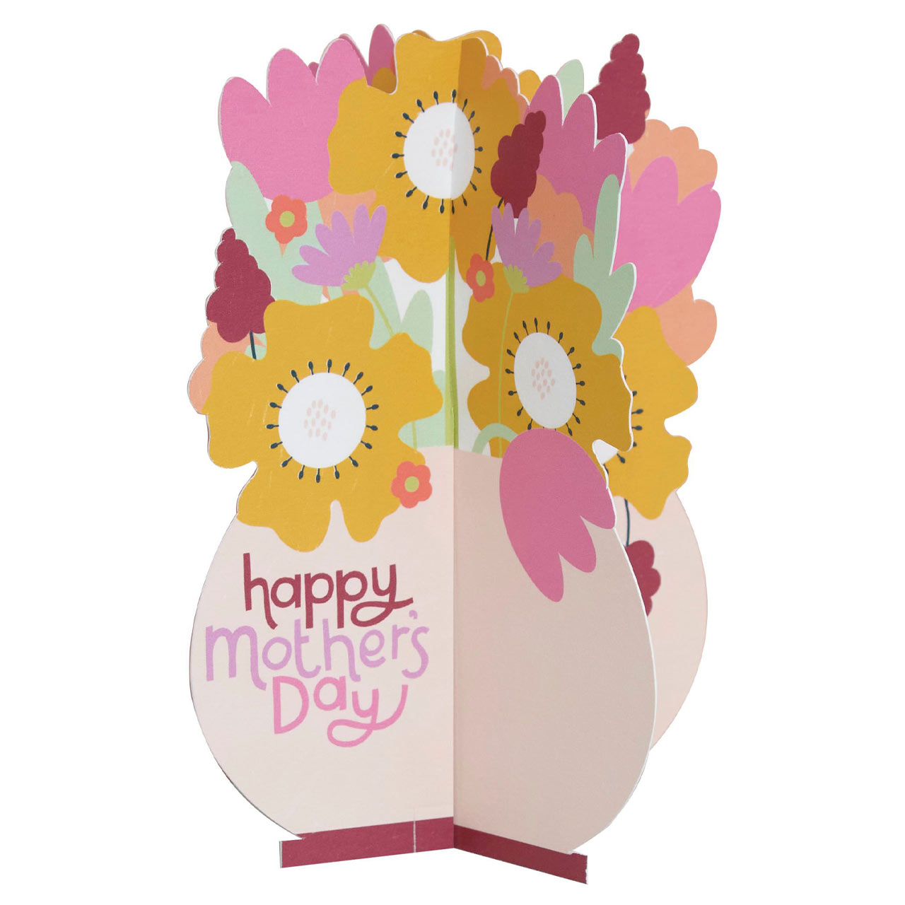 Mother's Day Flowers Die Cut Greeting Card