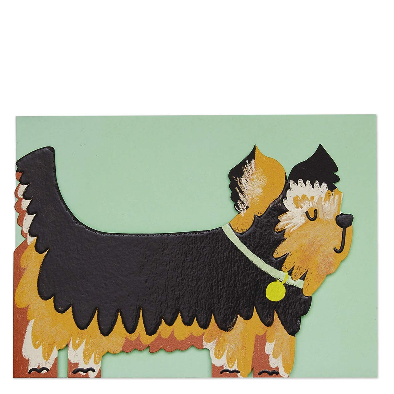 Yorkshire Terrier Die Cut Greeting Card