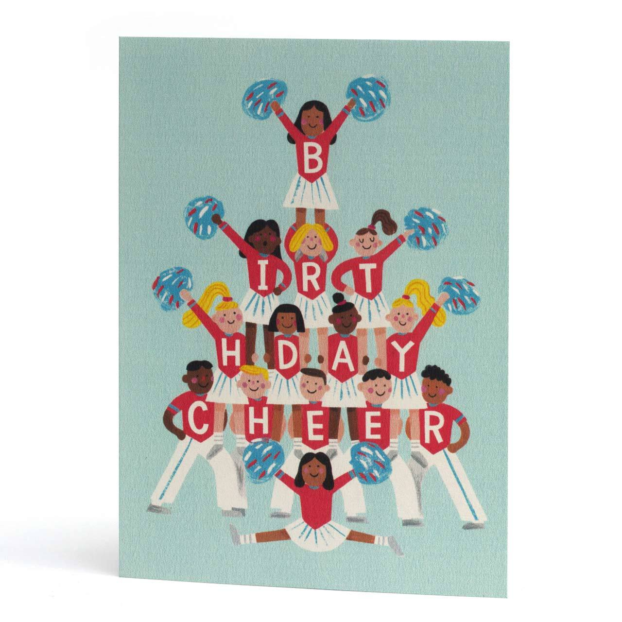 Birthday Cheerleader Greeting Card