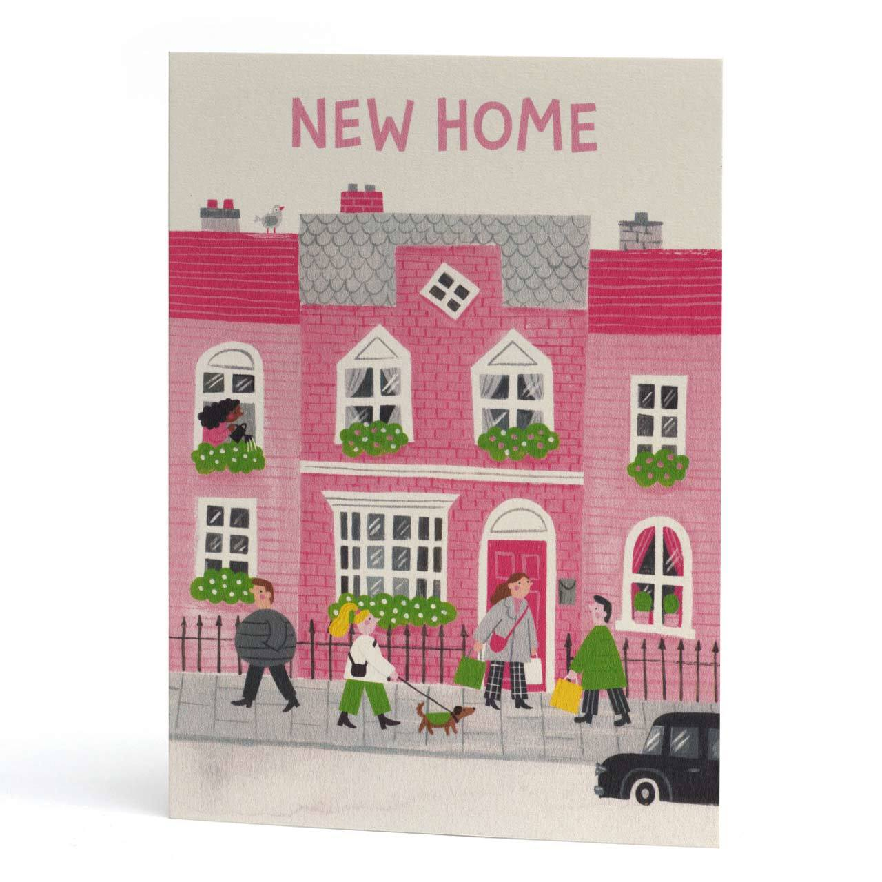 New Home Houses Greeting Card