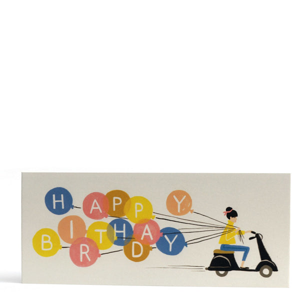 Birthday Scooter Greeting Card