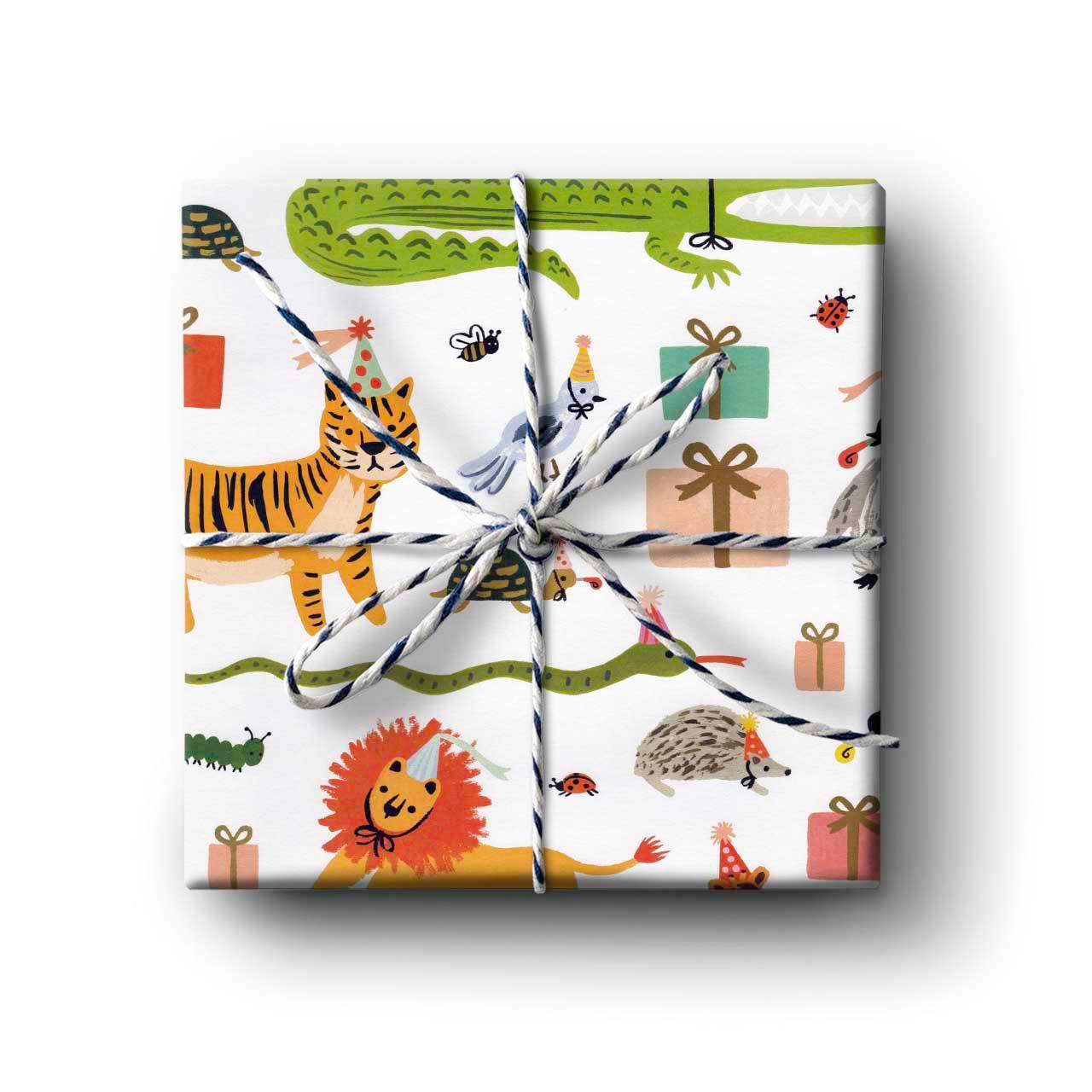 Party Animals Wrapping Paper - Folded Single Sheet