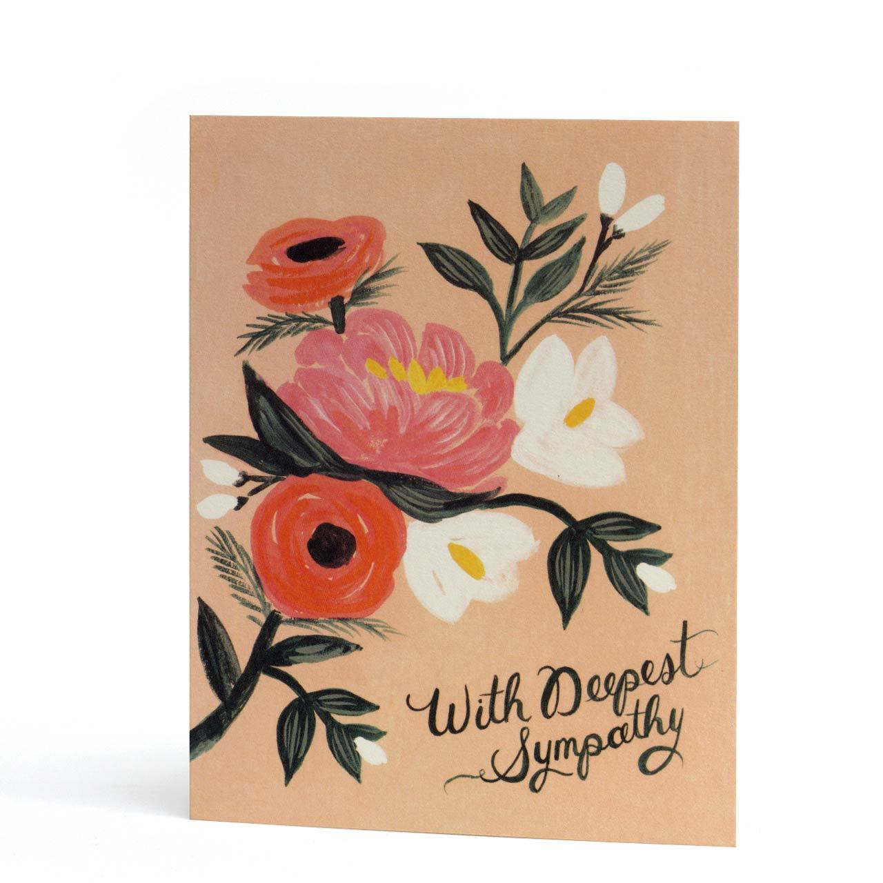 With Deepest Sympathy Floral Greeting Card