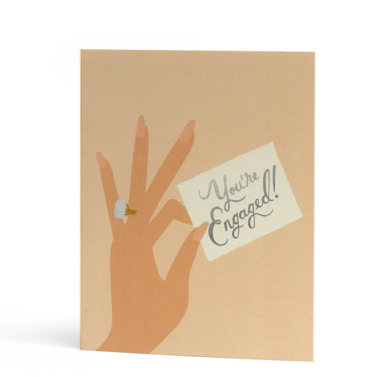 You're Engaged Silver Foil Greeting Card