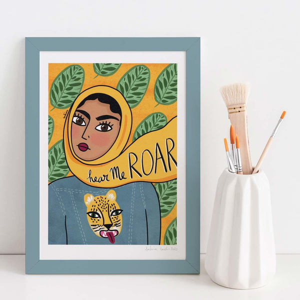 Hear Me Roar A4 Art Print