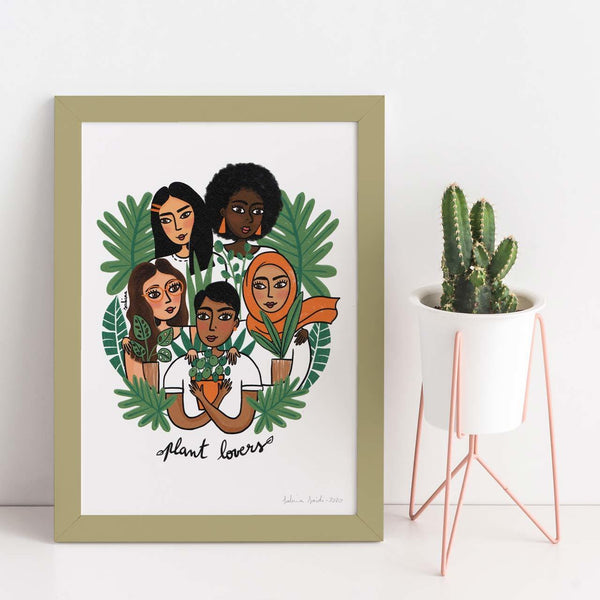 Plant Lovers A4 Art Print