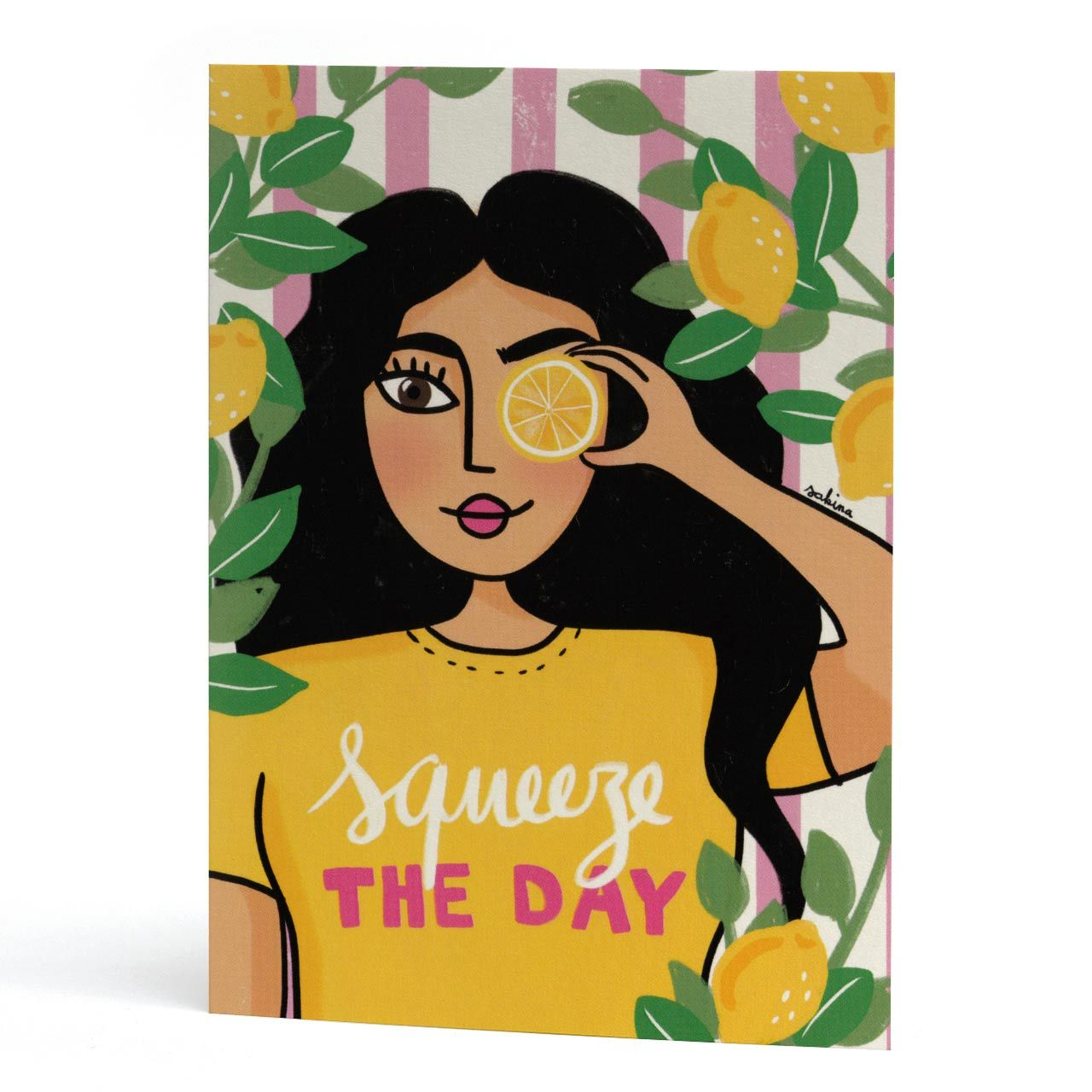 Squeeze The Day Motivational Card