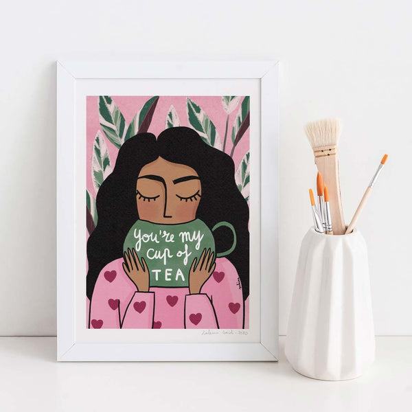 You're My Cup of Tea A4 Art Print