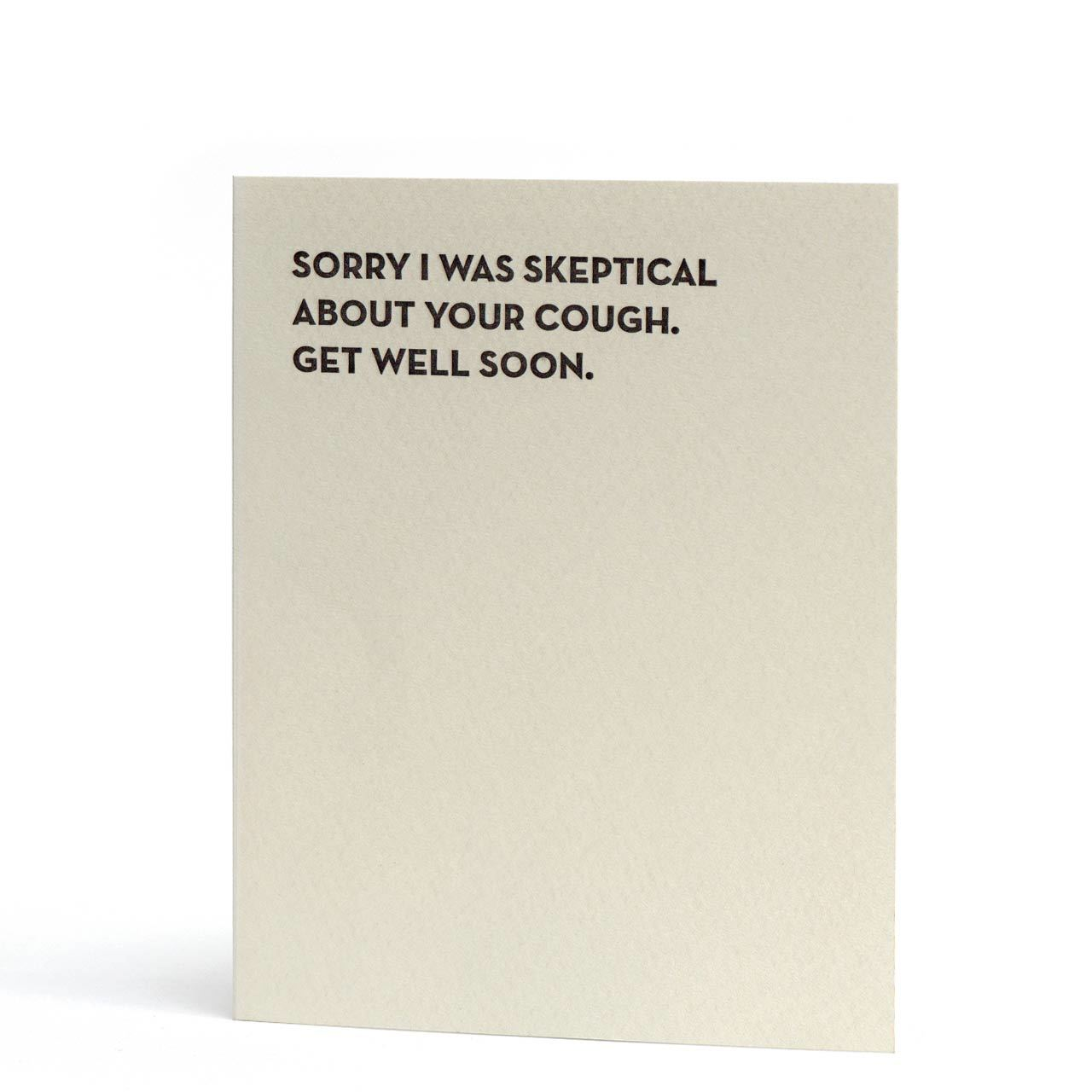 Moment of Truth: Skeptical Letterpress Greeting Card