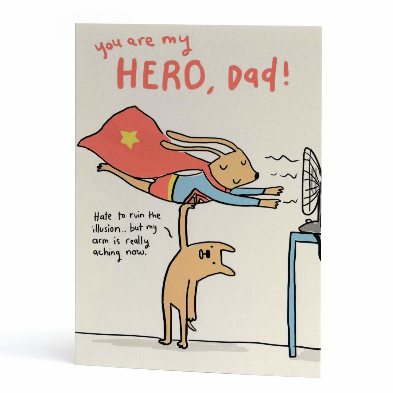Hero Dad Greeting Card