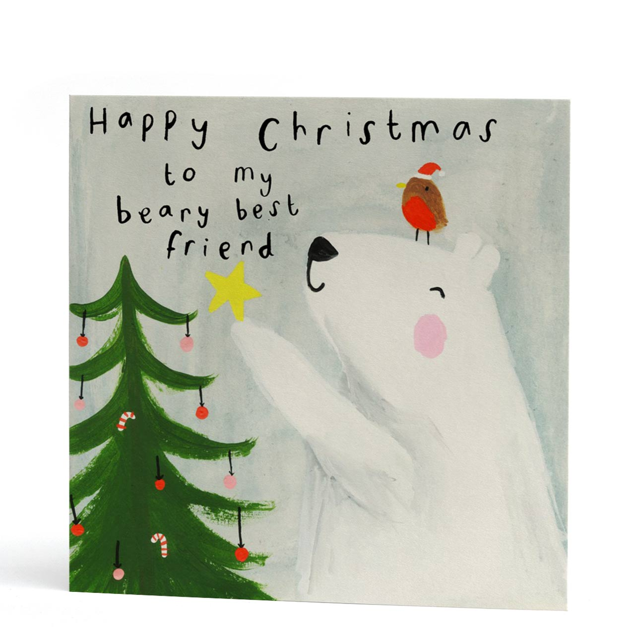 Beary Best Friend Happy Christmas Card