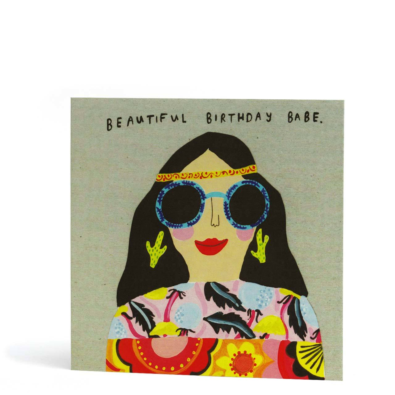 Beautiful Birthday Babe Greeting Card