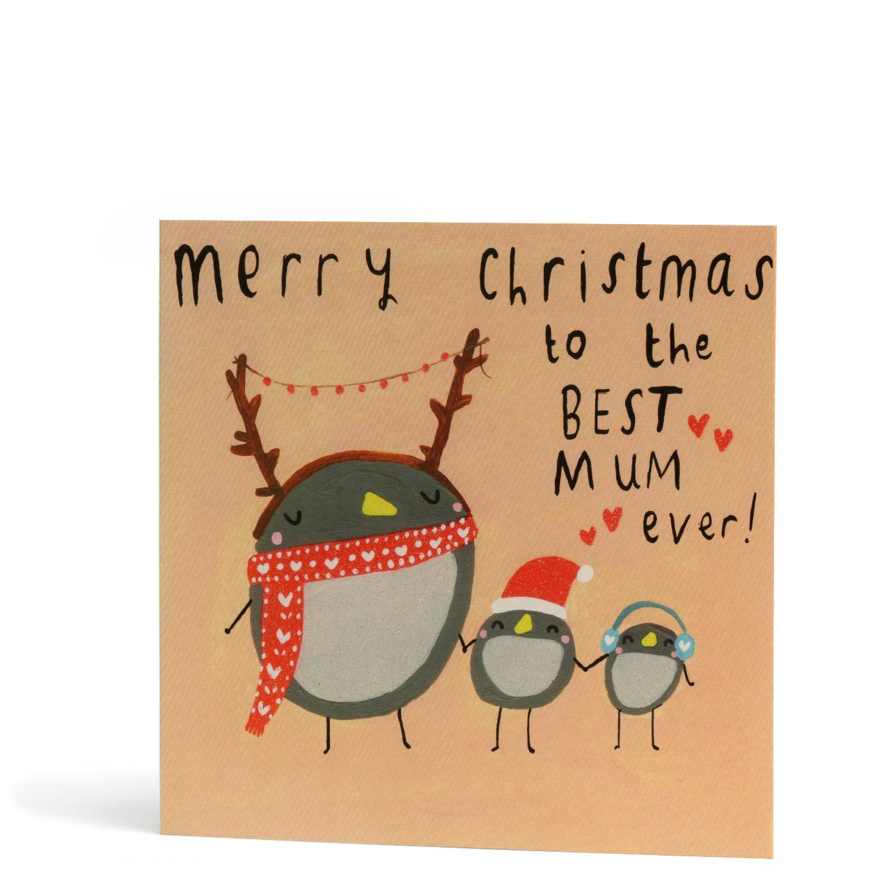 Best Mum Ever Christmas Greeting Card