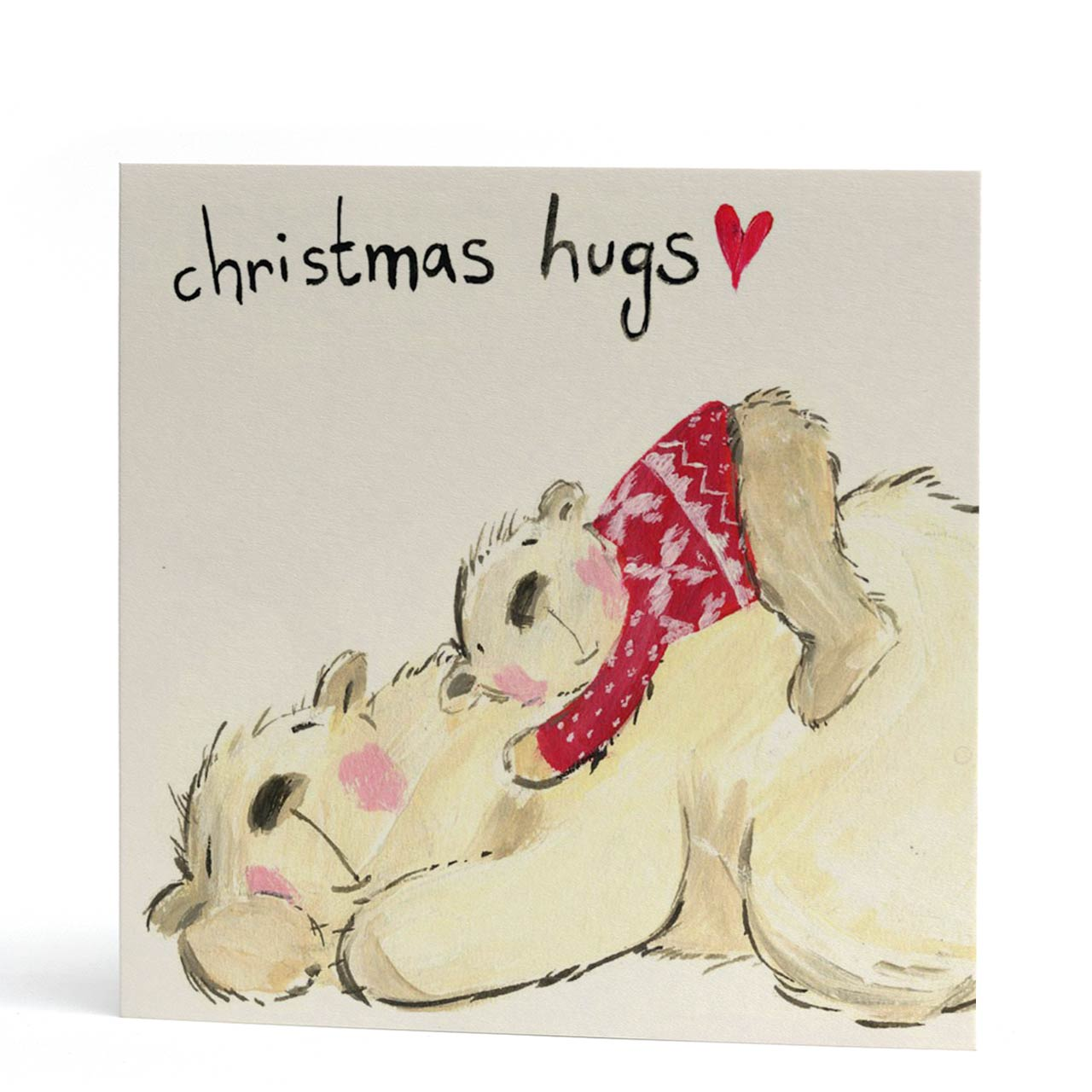 Christmas Hugs Polar Bear Card