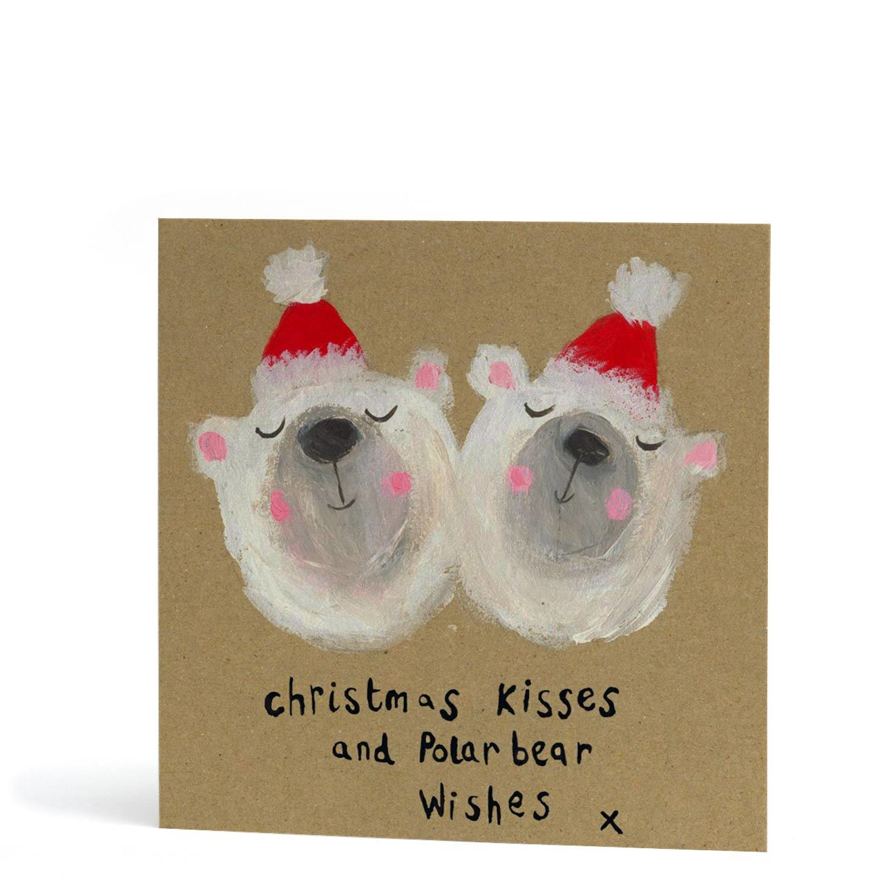 Christmas Kisses and Polar Bear Wishes Greeting Card
