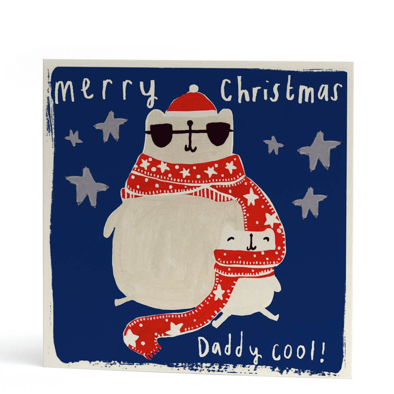 Daddy Cool Polar Bear Christmas Card