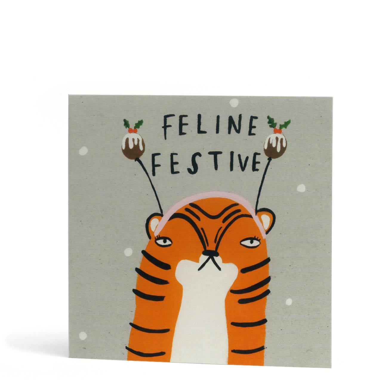 Feline Festive Christmas Greeting Card