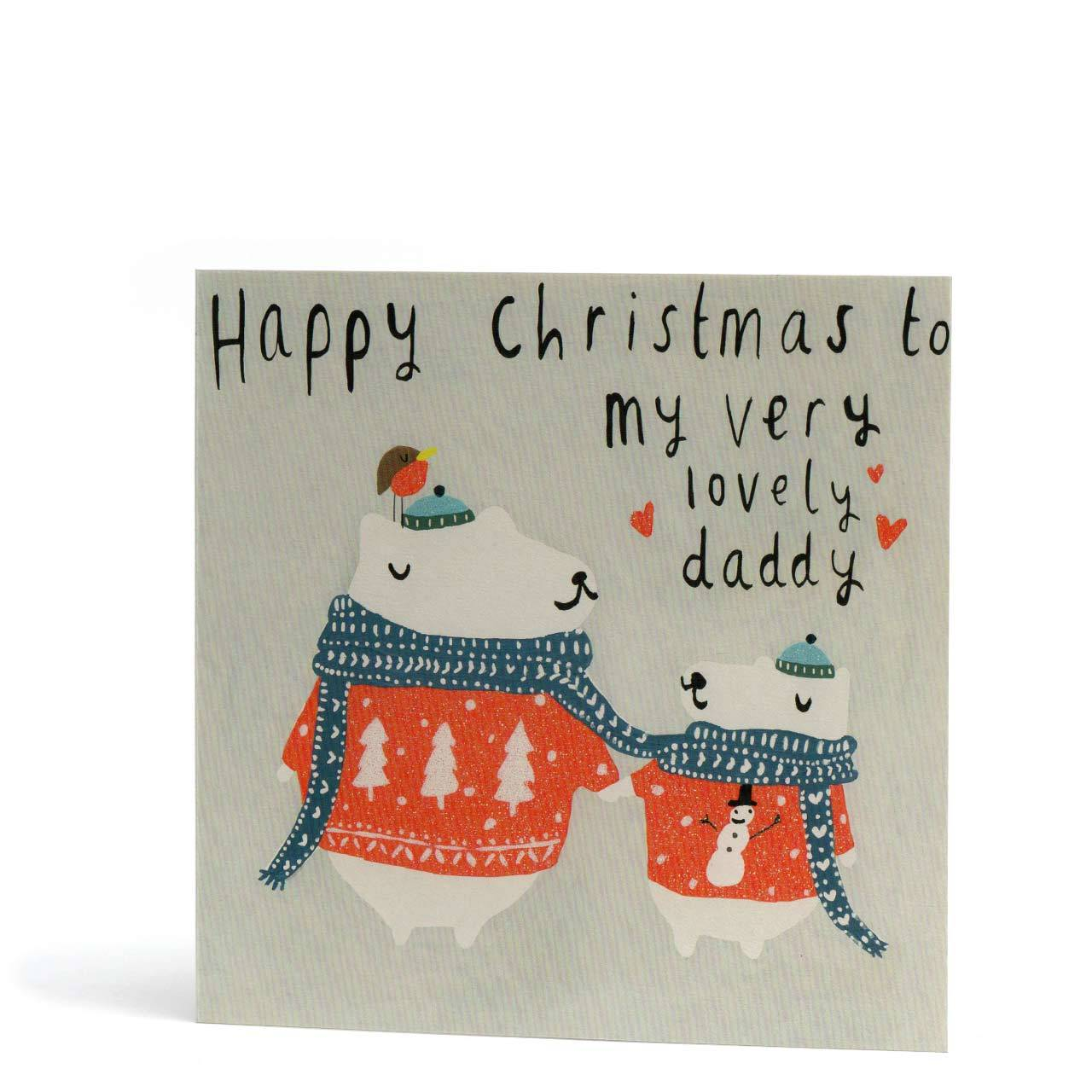 Lovely Daddy Christmas Greeting Card