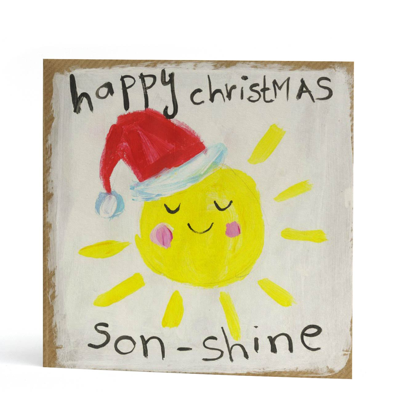 Son Shine Happy Christmas Card