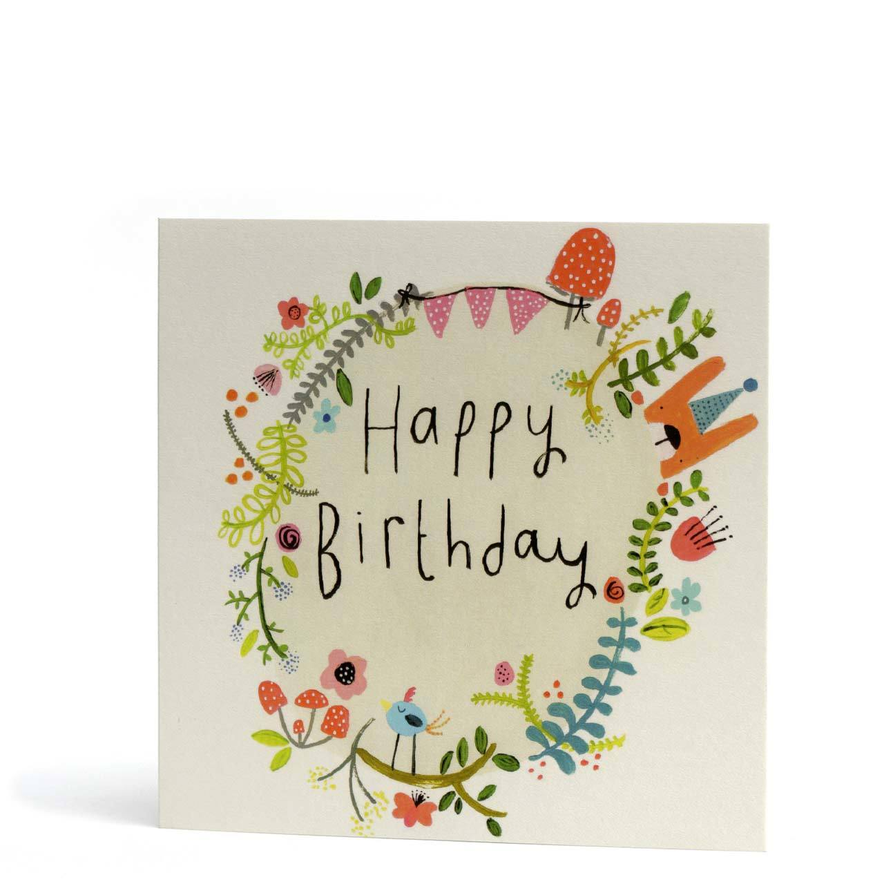 Magical Forest Happy Birthday Greeting Card