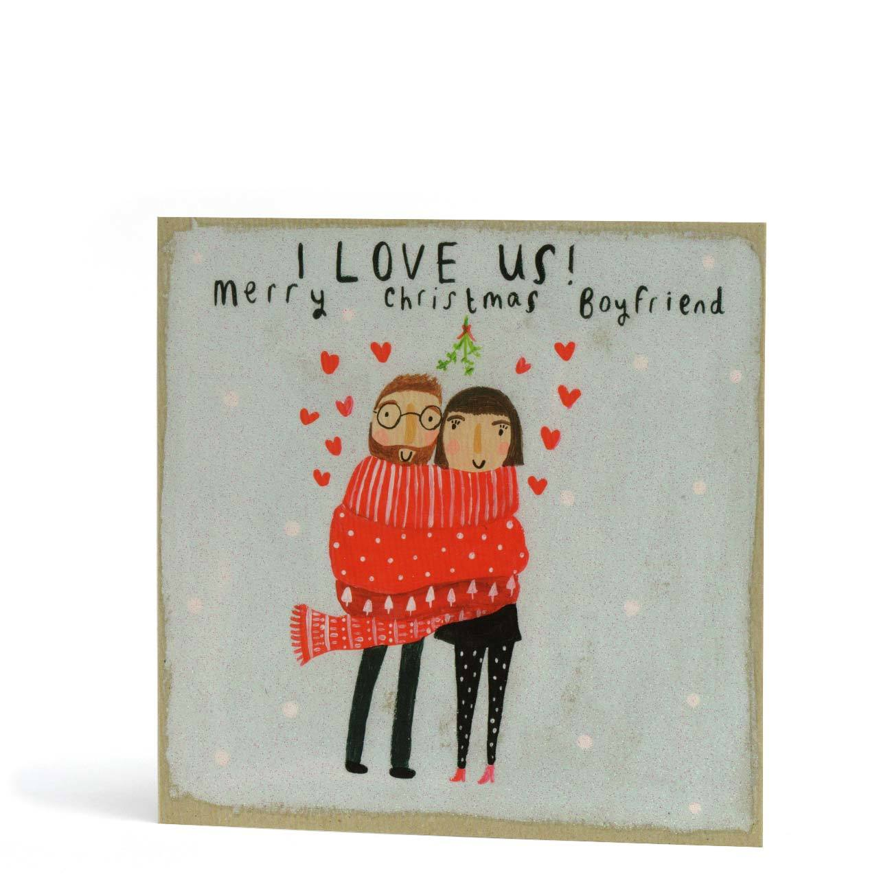 Merry Christmas Boyfriend Greeting Card