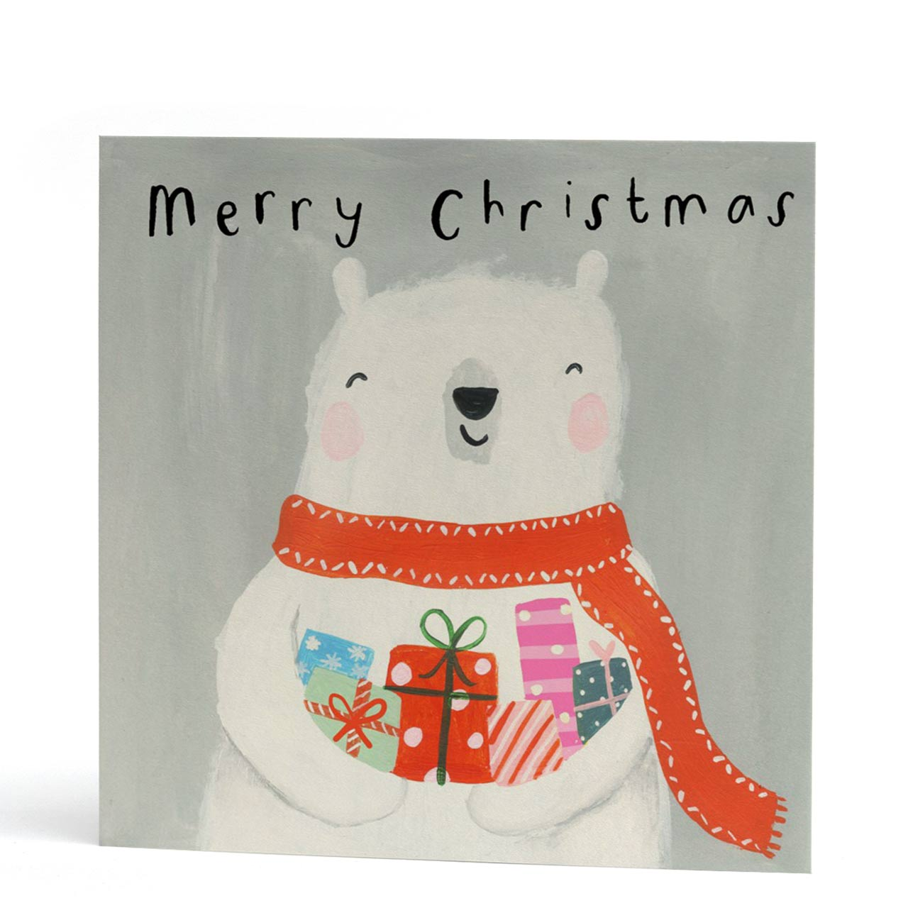 Merry Christmas Polar Bear Presents Card