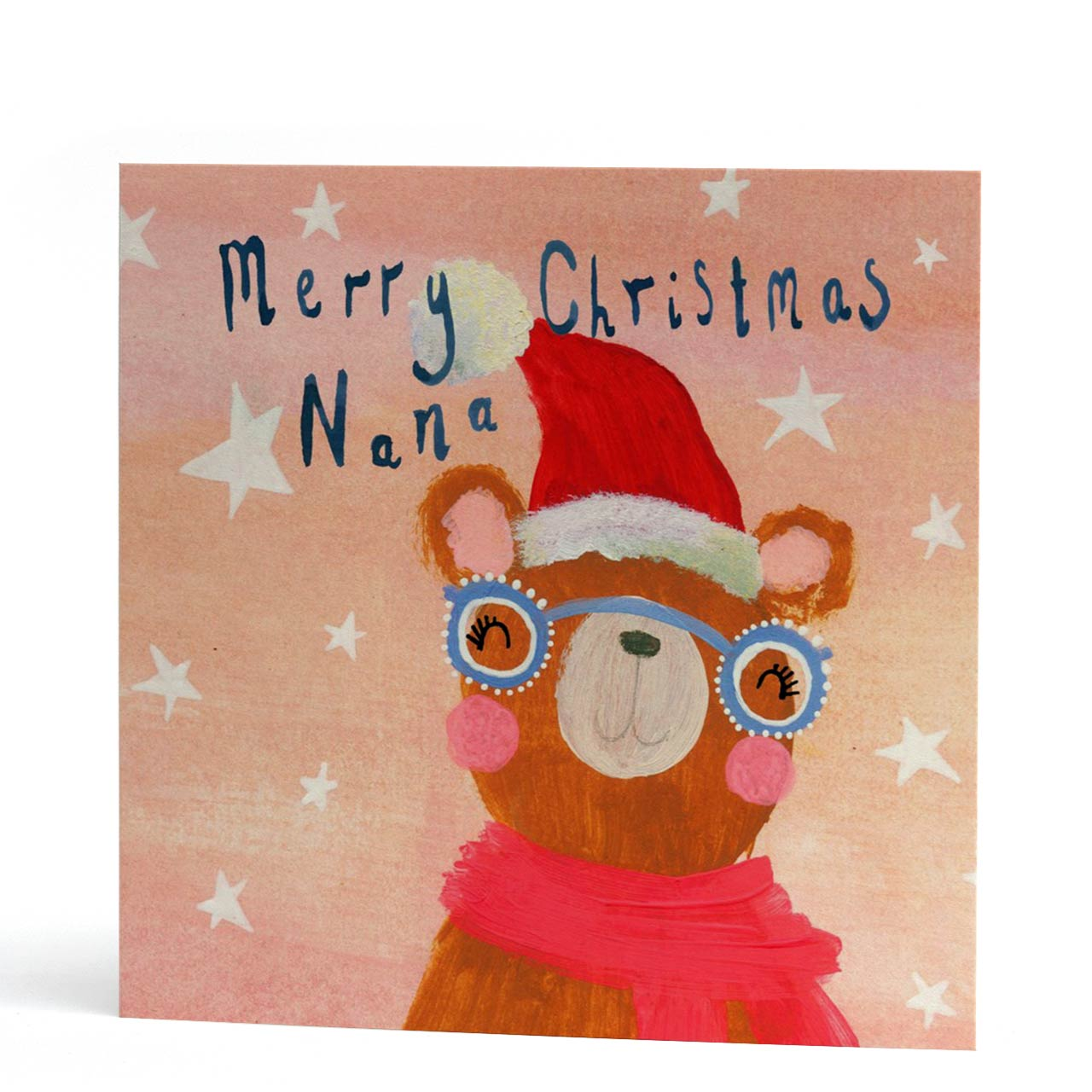 Nana Bear Merry Christmas Card