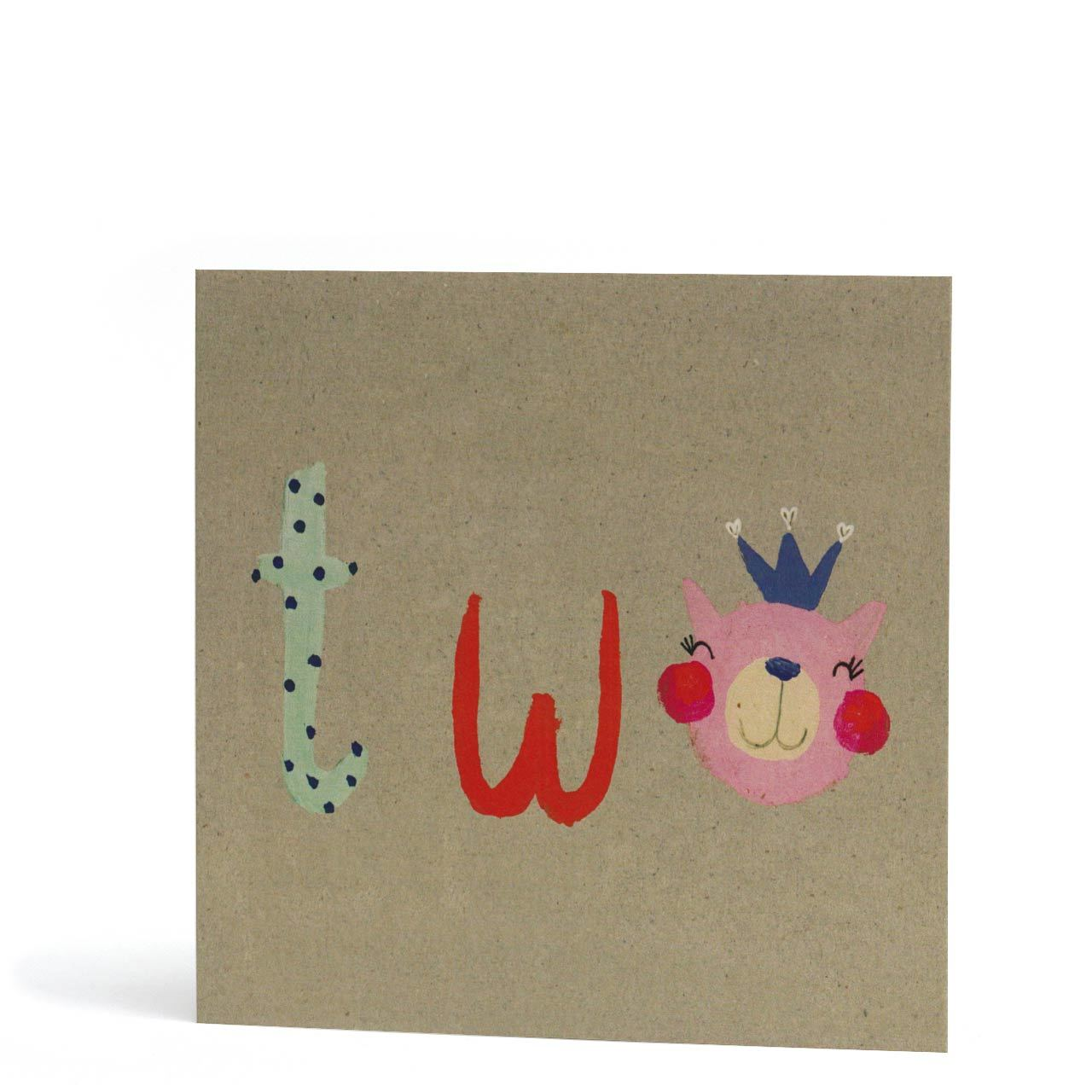 Second Birthday Bear Greeting Card