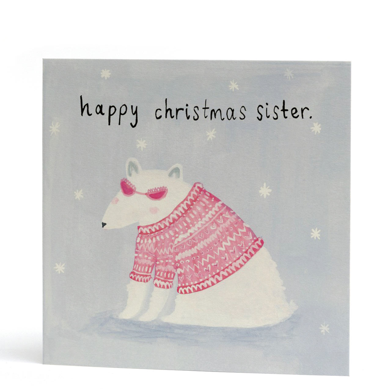 Sister Polar Bear Christmas Card