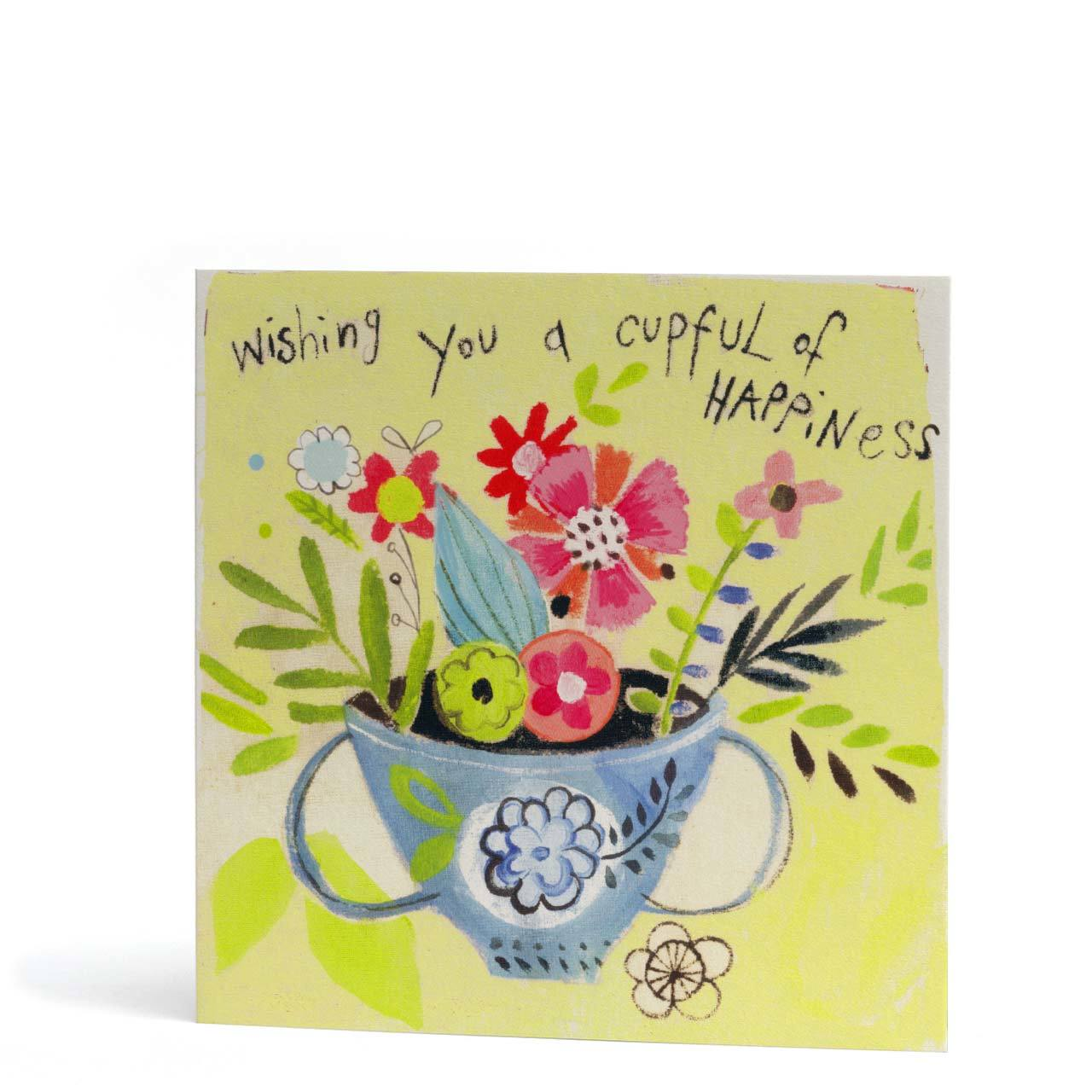 Wishing You a Cupful of Happiness Card
