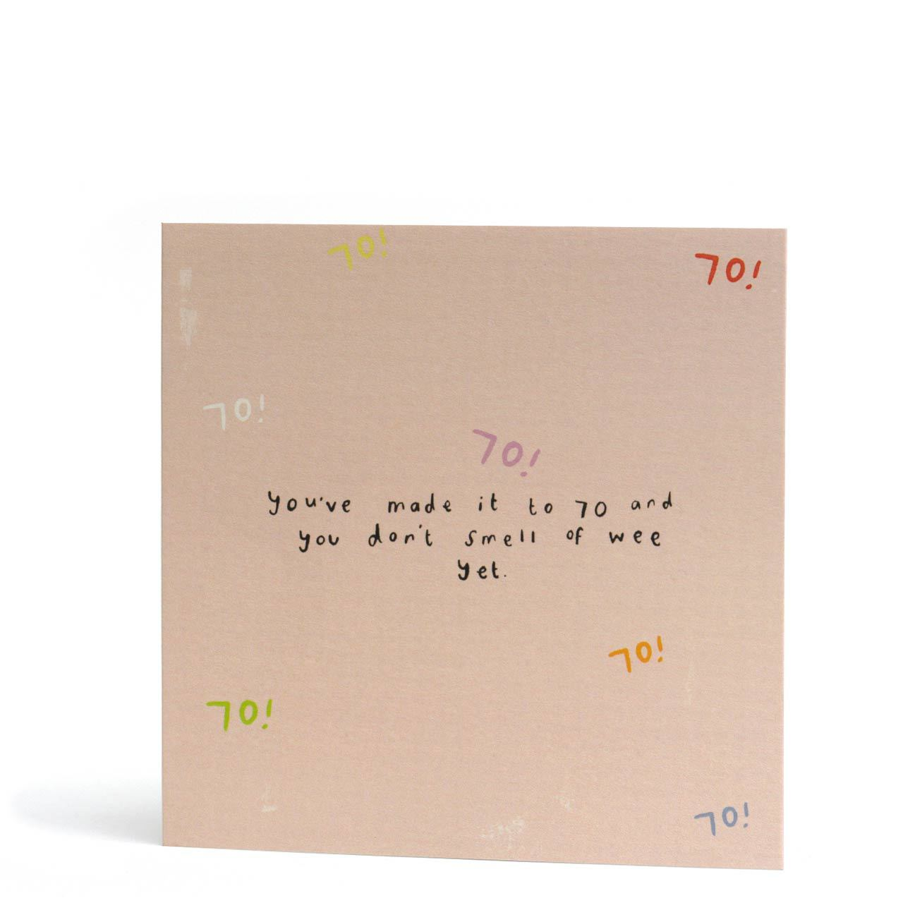 70 Don't Smell of Wee Greeting Card