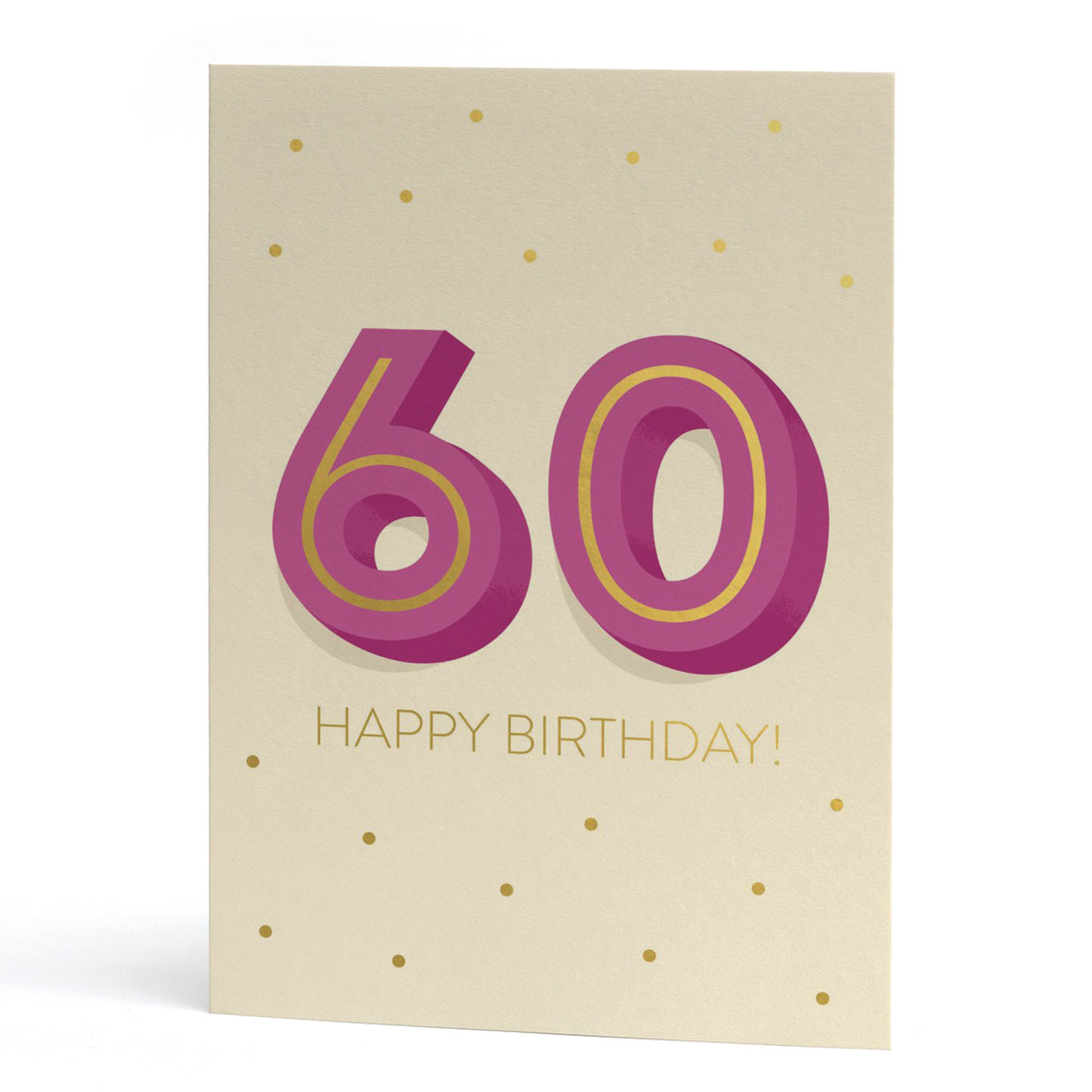 Big 60th Birthday Gold Foil Greeting Card