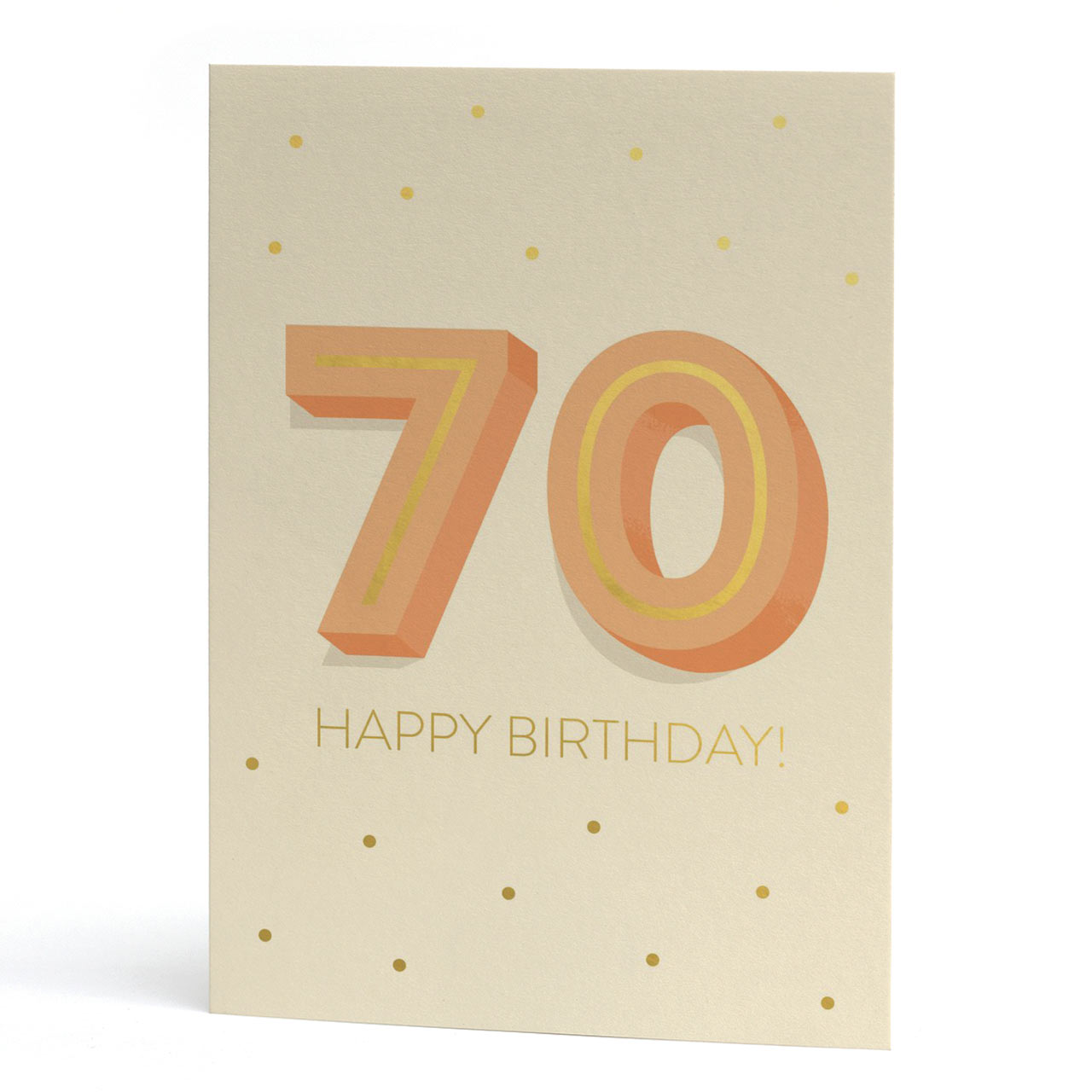 Big 70th Birthday Gold Foil Greeting Card