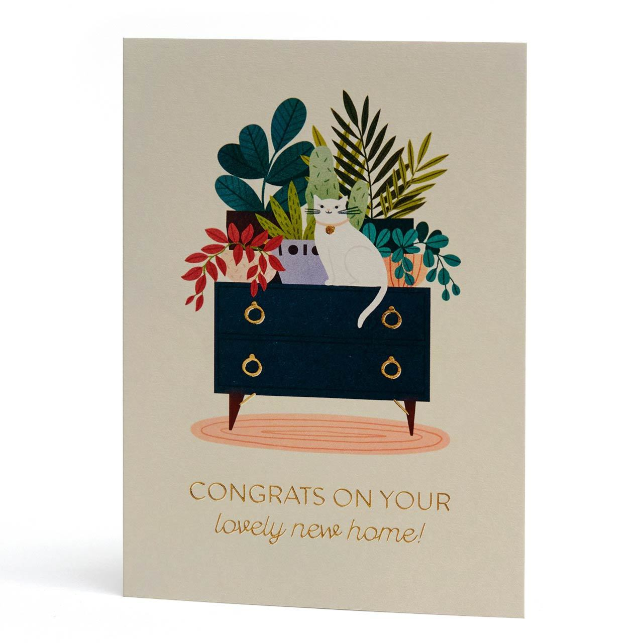 Lovely New Home Gold Foil Greeting Card