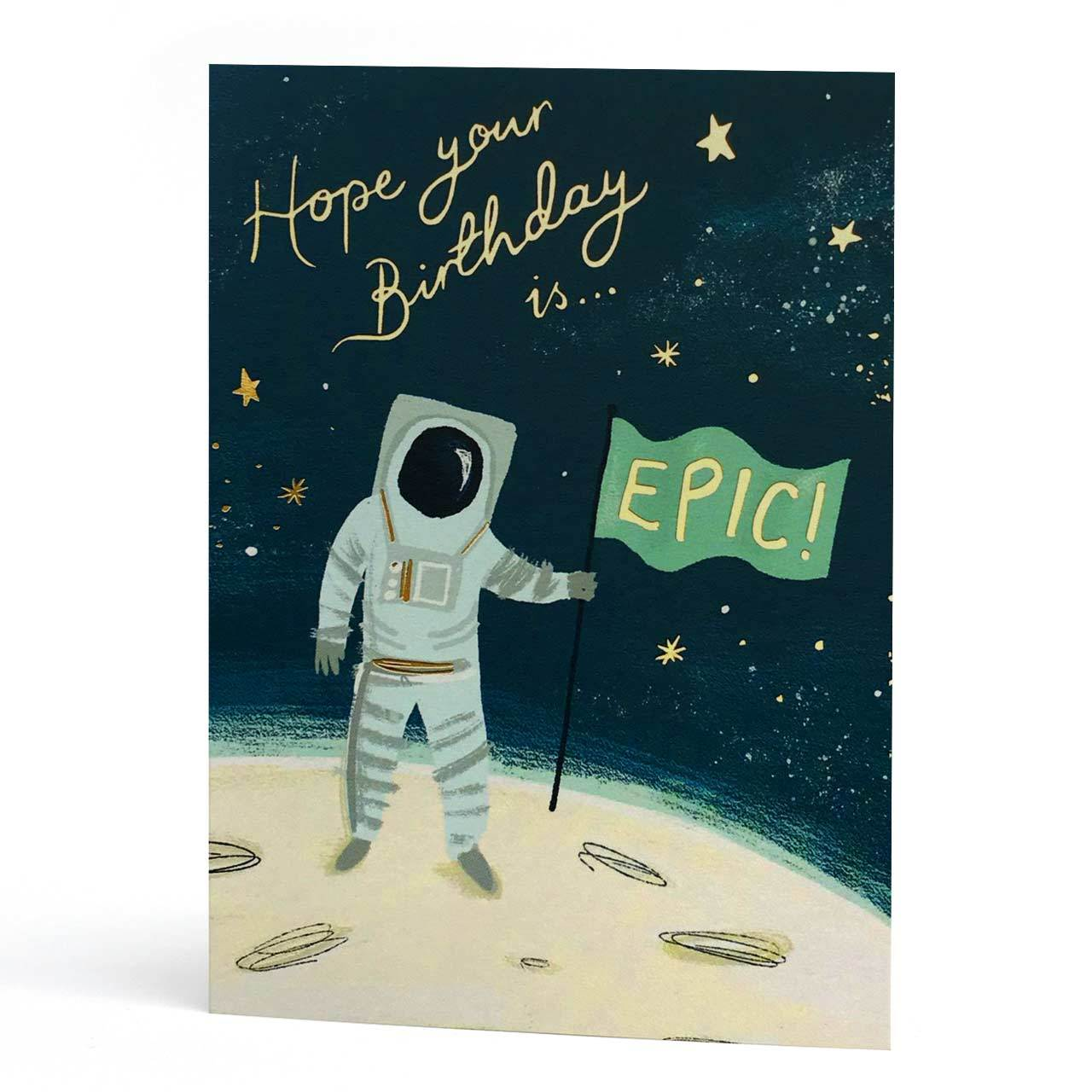 Epic Birthday Gold Foil Greeting Card