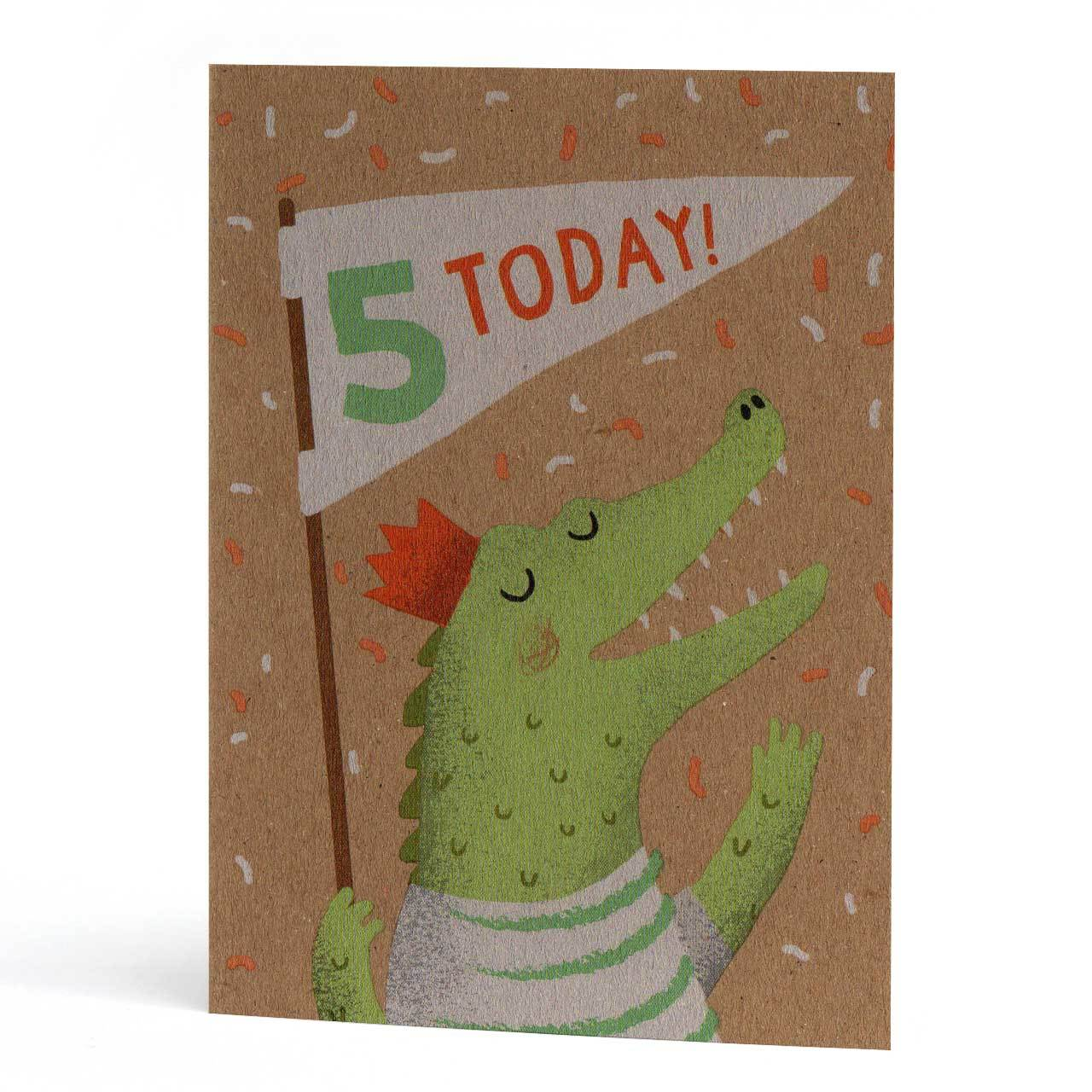 Fifth Birthday Croc Greeting Card