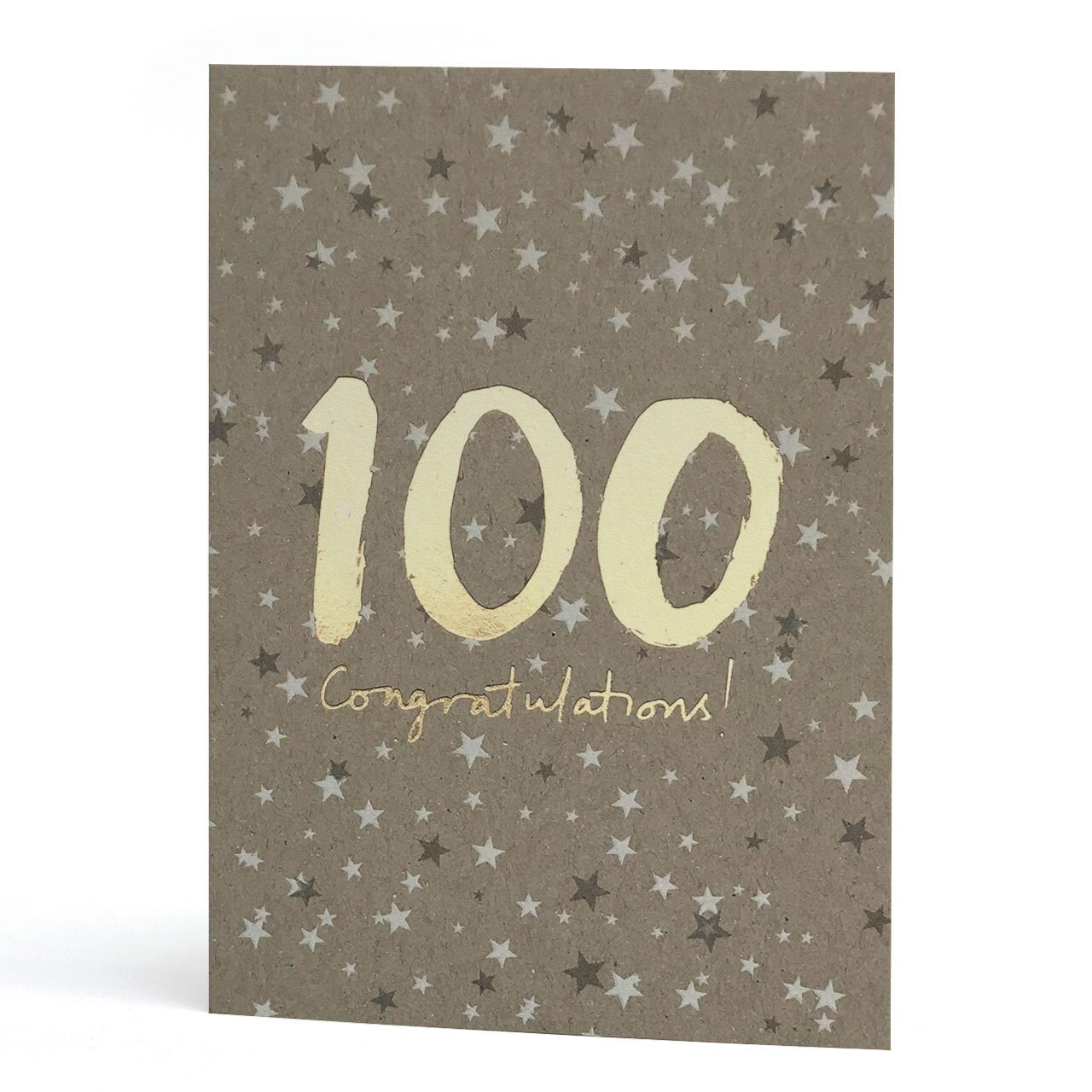 100th Gold Foil Greeting Card