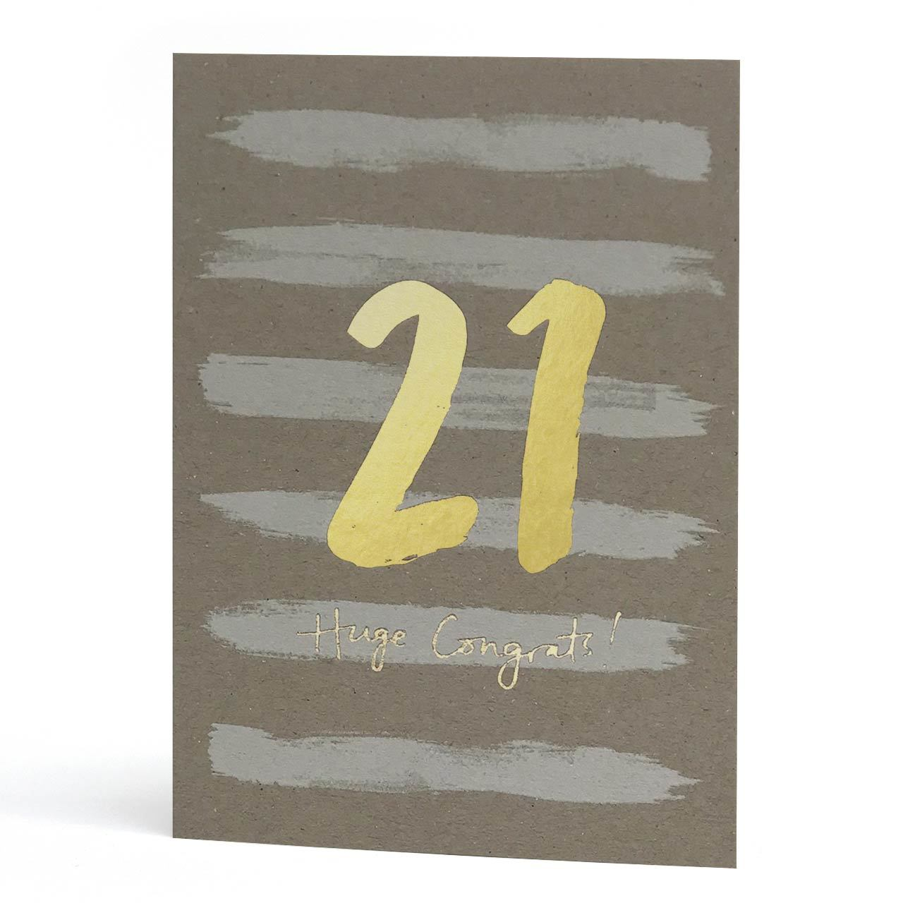21st Gold Foil Greeting Card