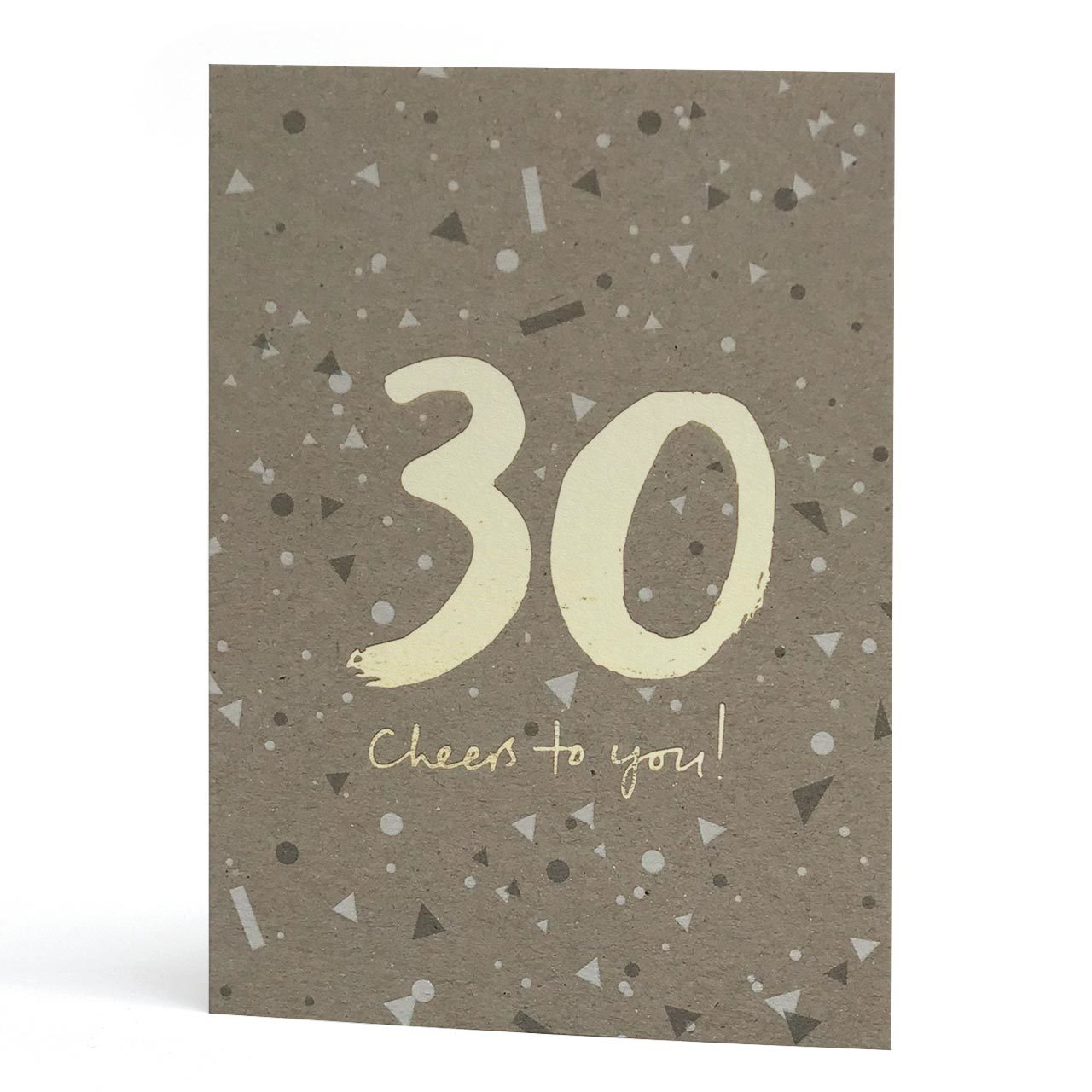 30th Gold Foil Greeting Card