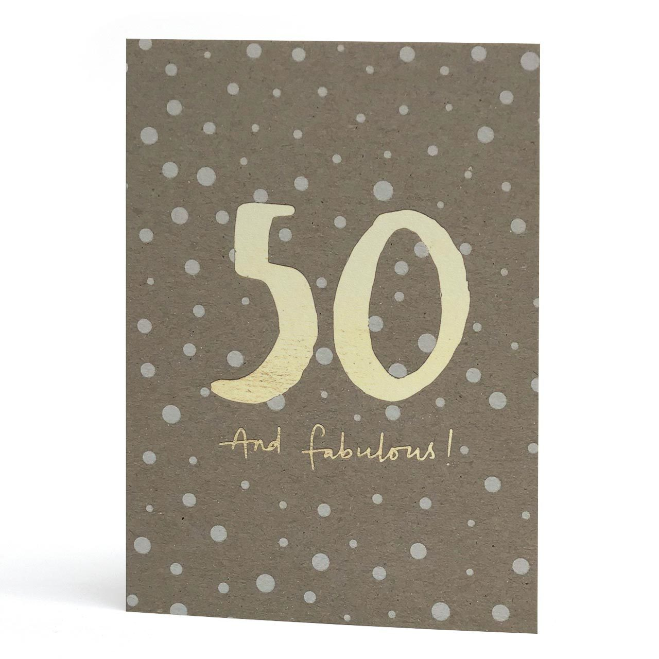 50th Gold Foil Greeting Card
