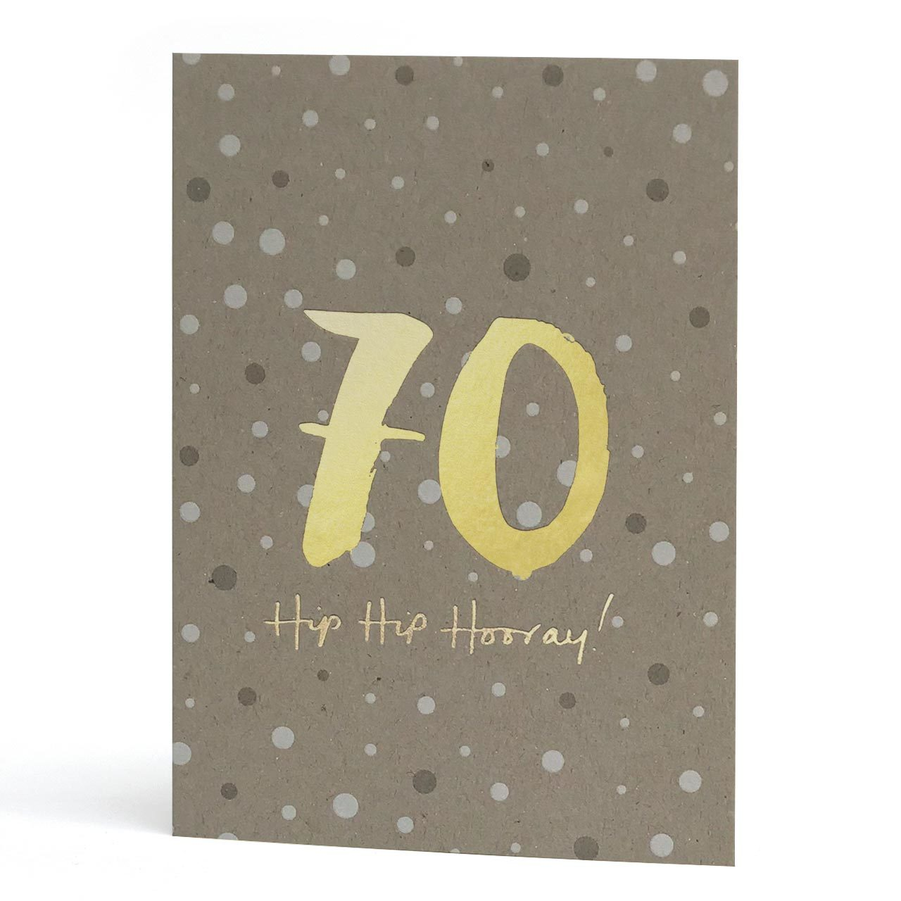 70th Gold Foil Greeting Card