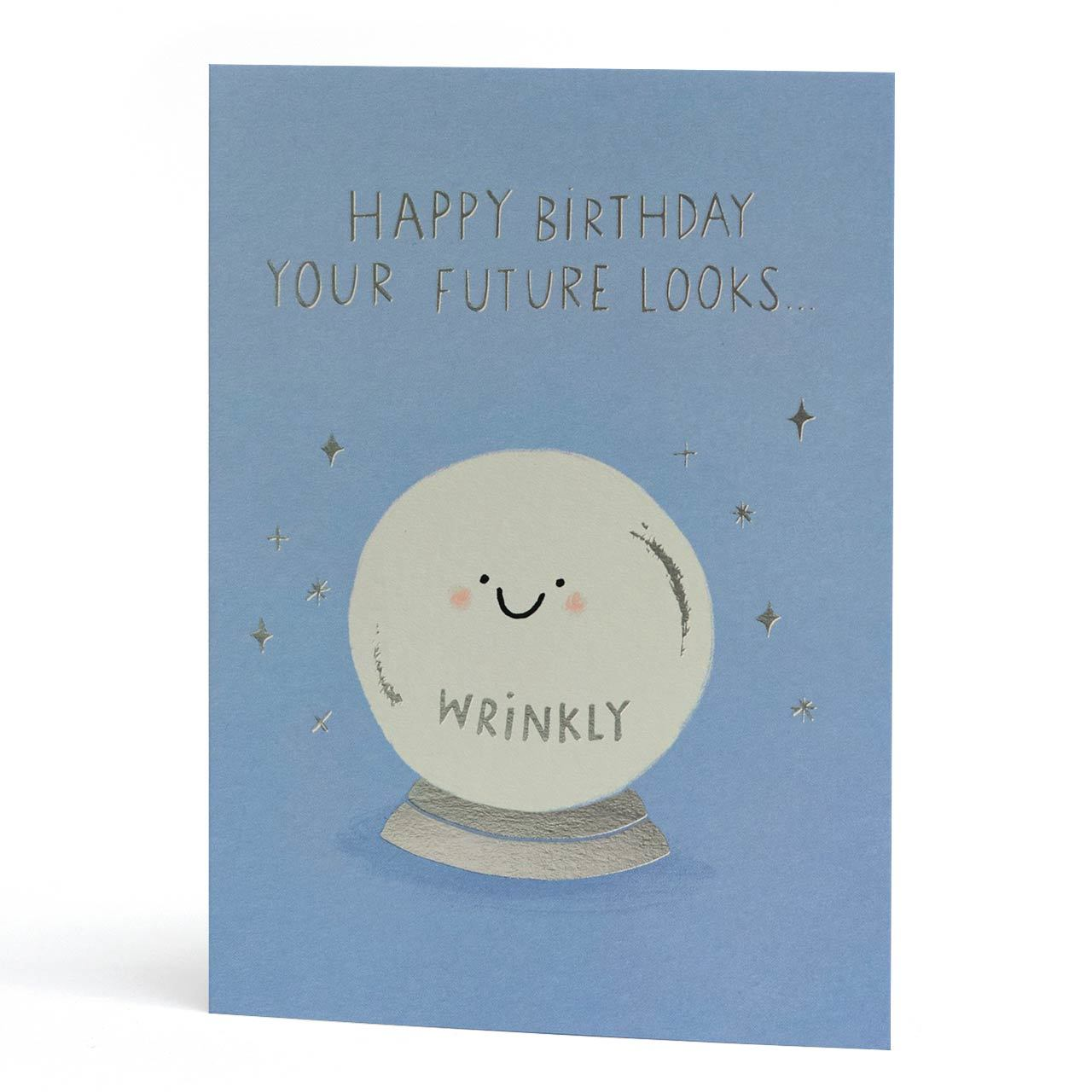 Your Future Silver Foil Birthday Greeting Card