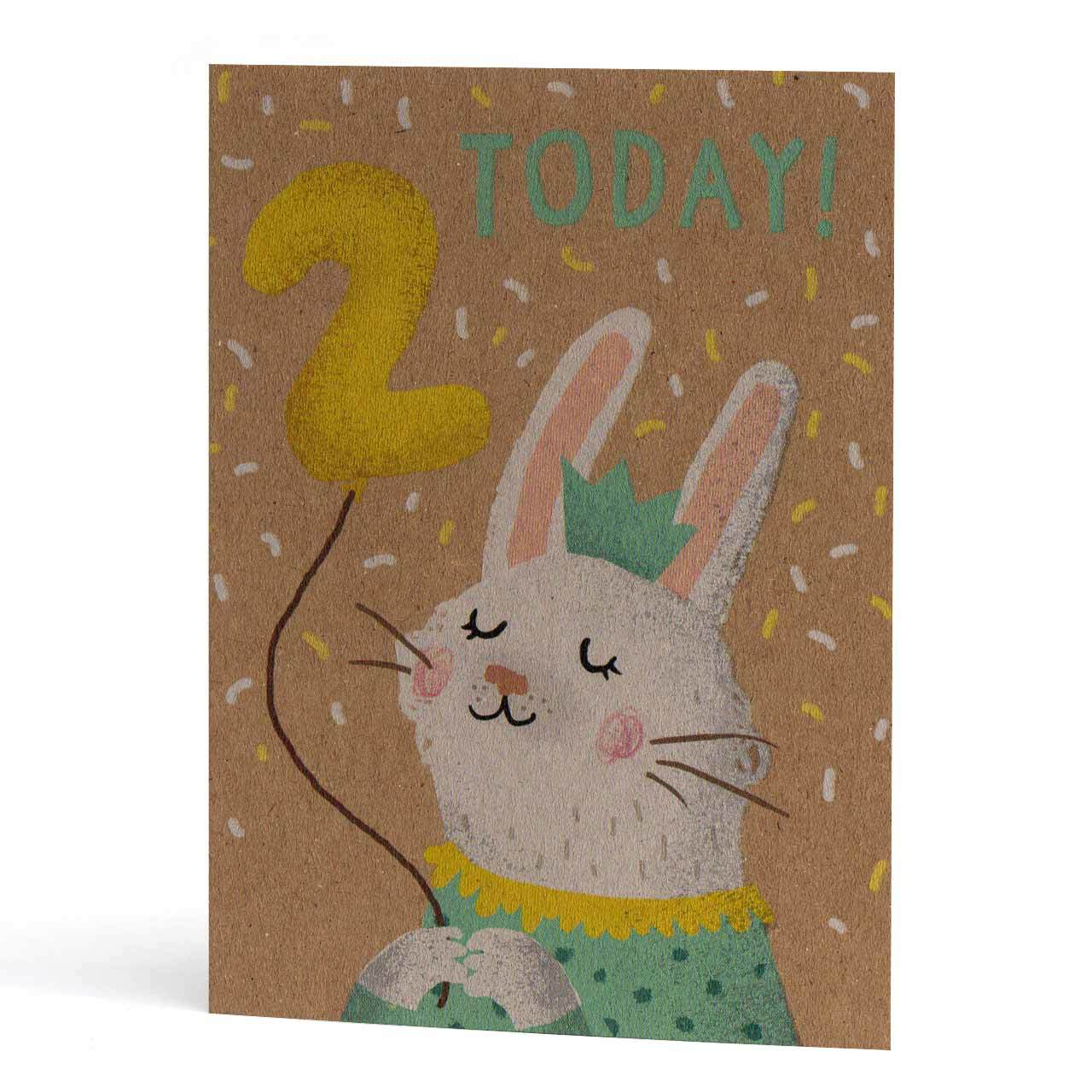 Second Birthday Bunny Greeting Card